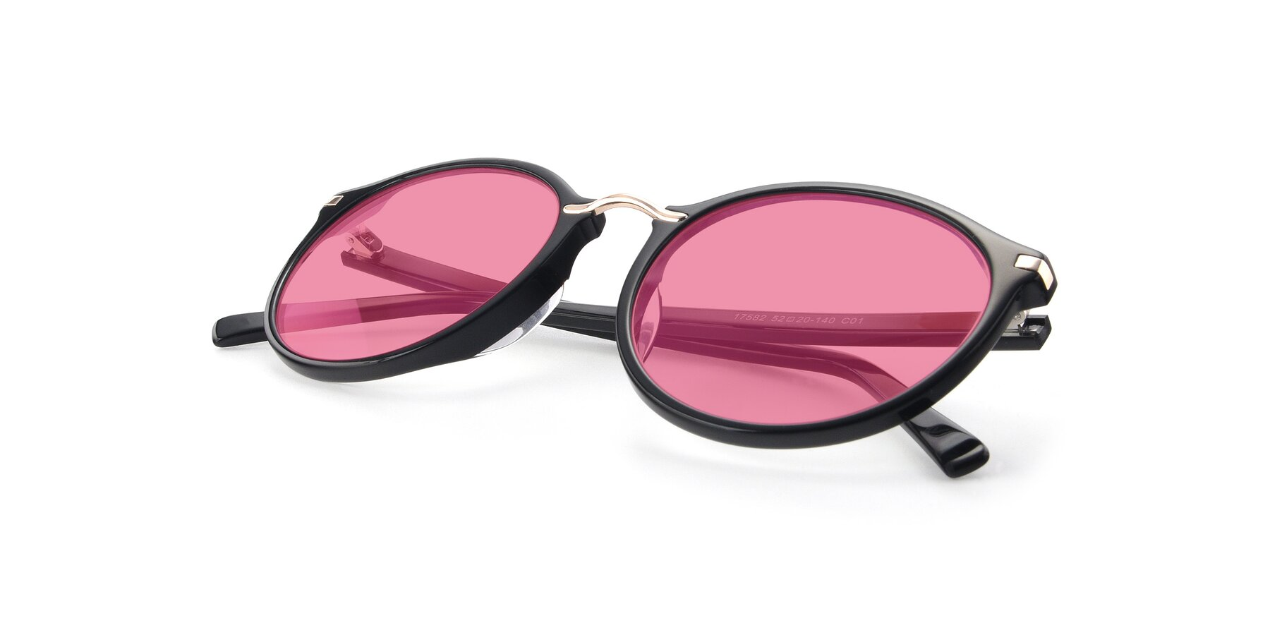 View of 17582 in Black with Pink Tinted Lenses