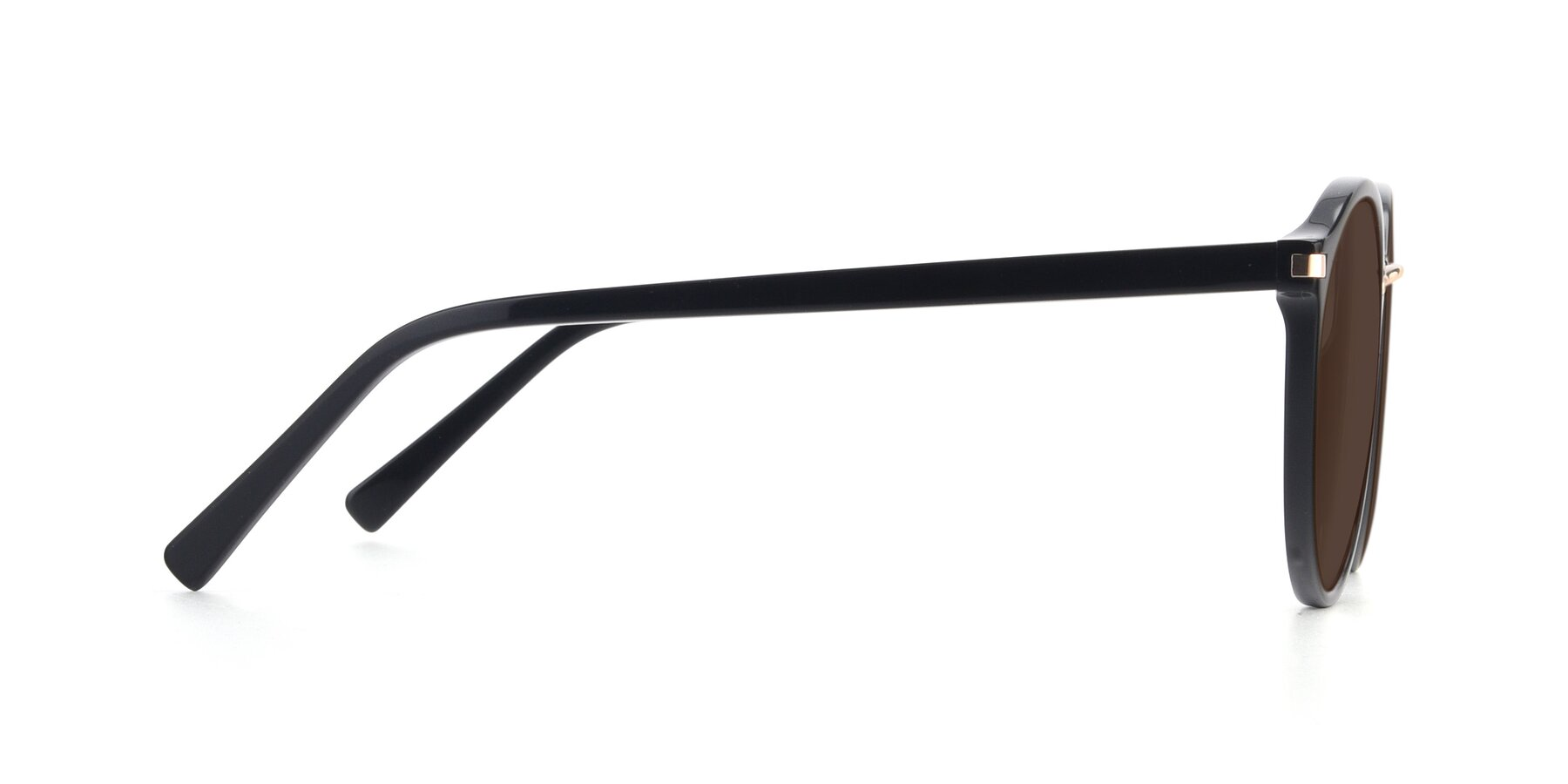 Side of 17582 in Black with Brown Tinted Lenses