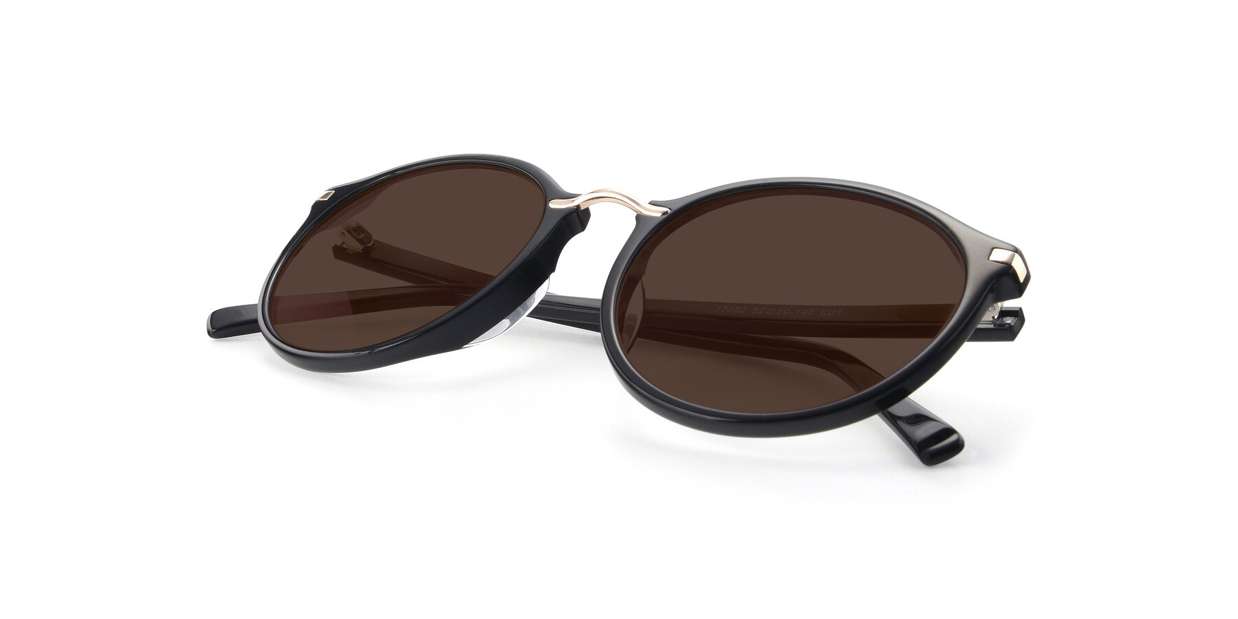 View of 17582 in Black with Brown Tinted Lenses