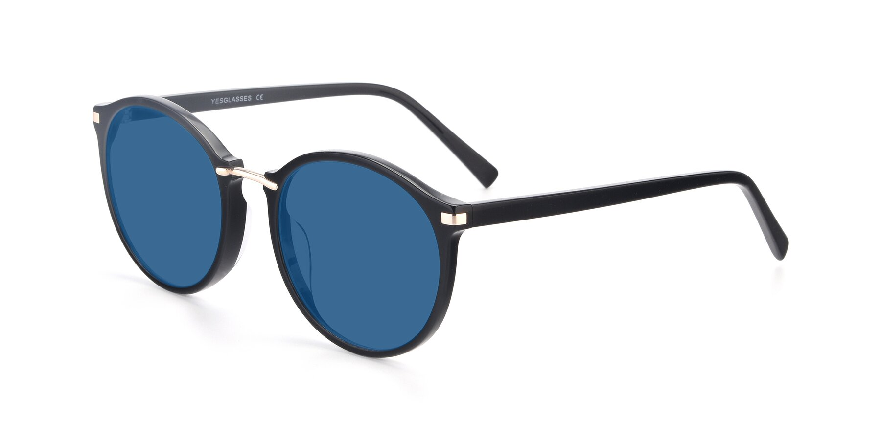 Angle of 17582 in Black with Blue Tinted Lenses
