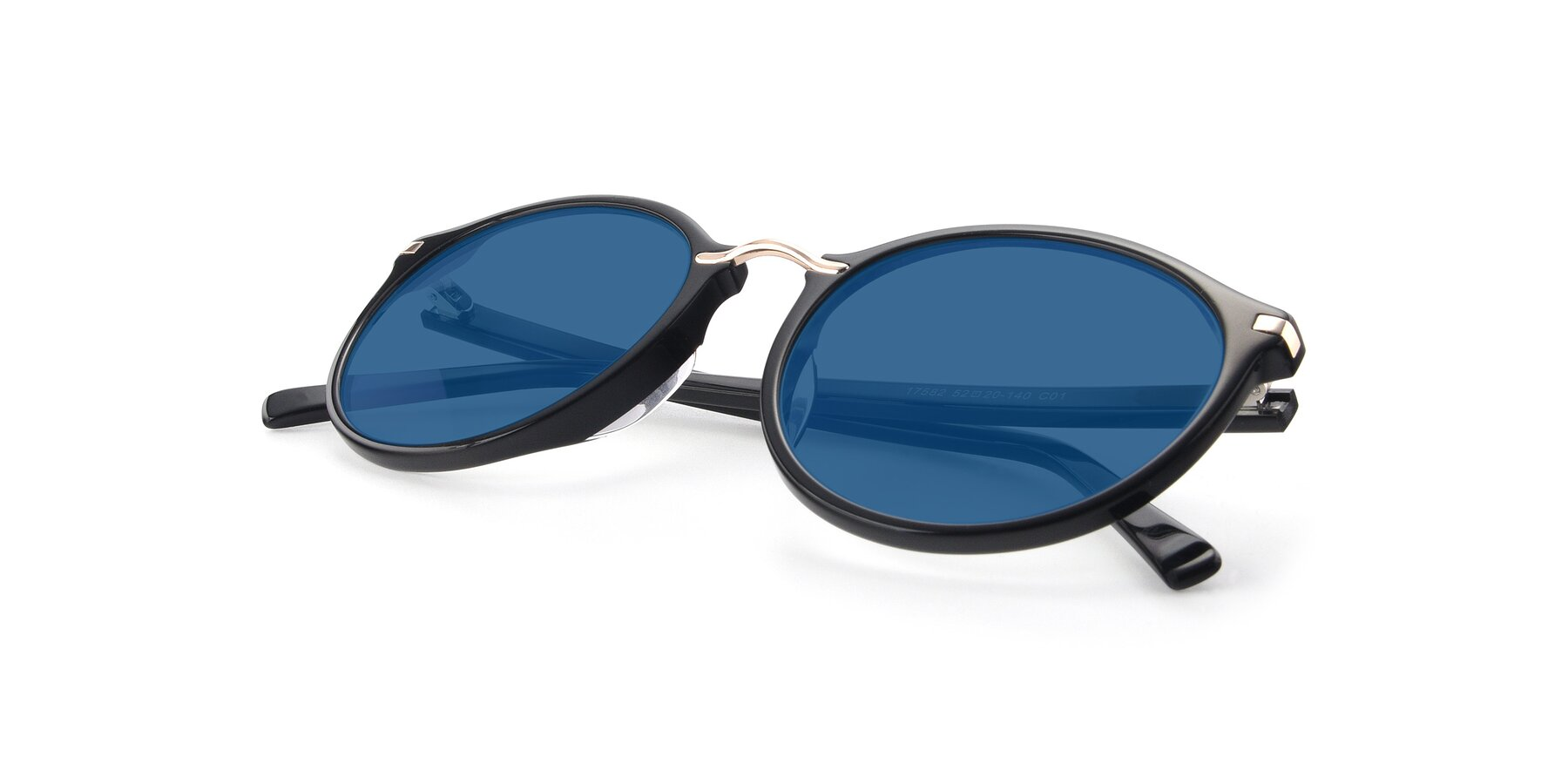 View of 17582 in Black with Blue Tinted Lenses