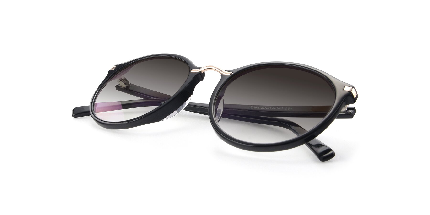 View of 17582 in Black with Gray Gradient Lenses