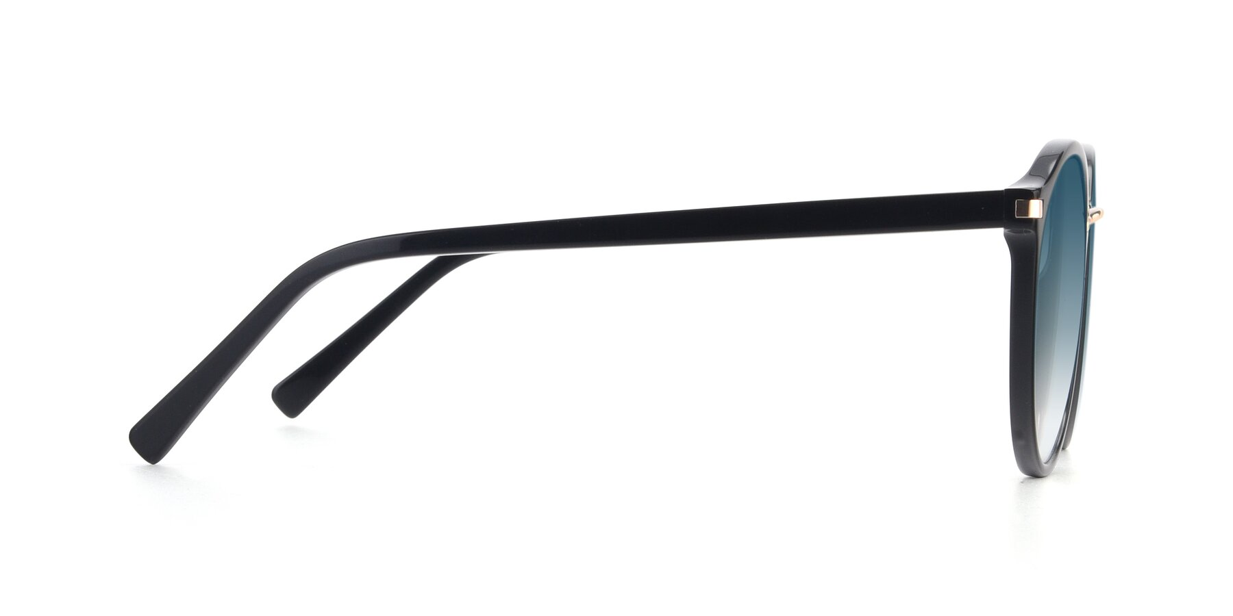 Side of 17582 in Black with Blue Gradient Lenses