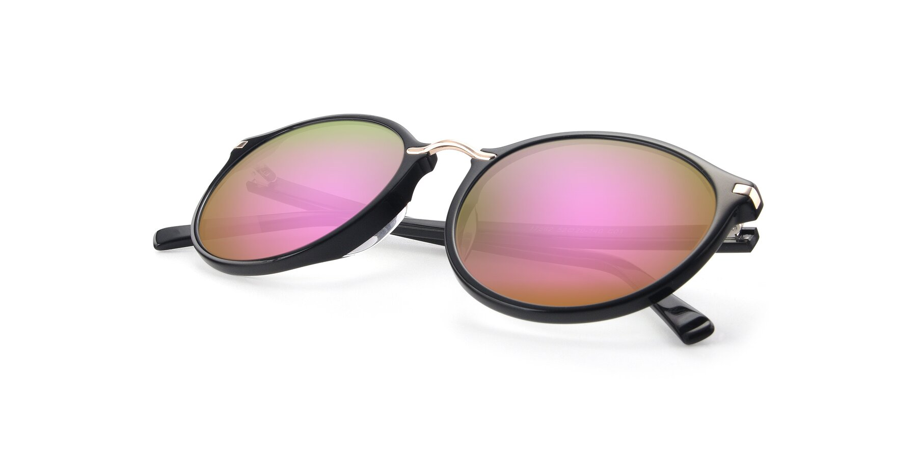 View of 17582 in Black with Pink Mirrored Lenses