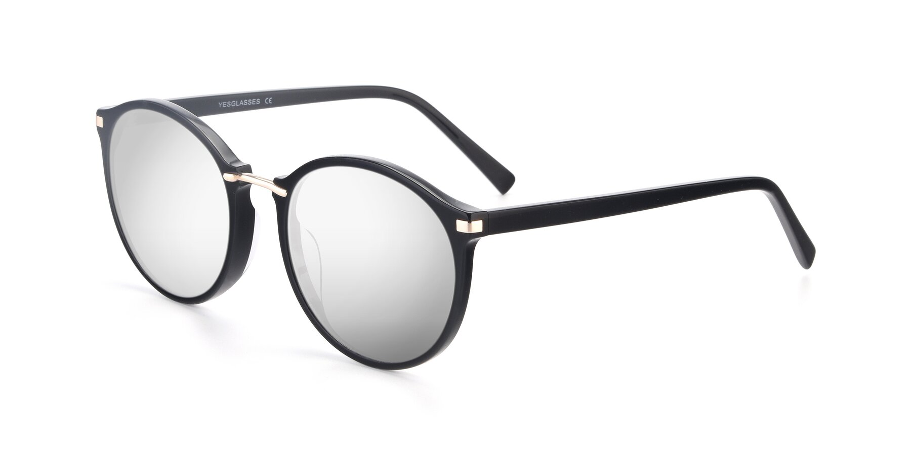 Angle of 17582 in Black with Silver Mirrored Lenses