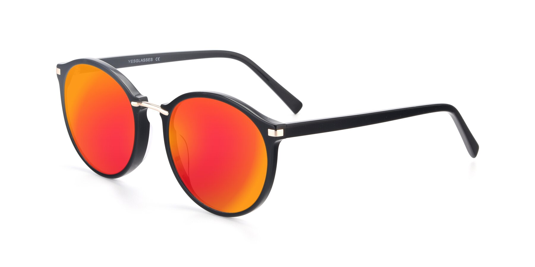 Angle of 17582 in Black with Red Gold Mirrored Lenses