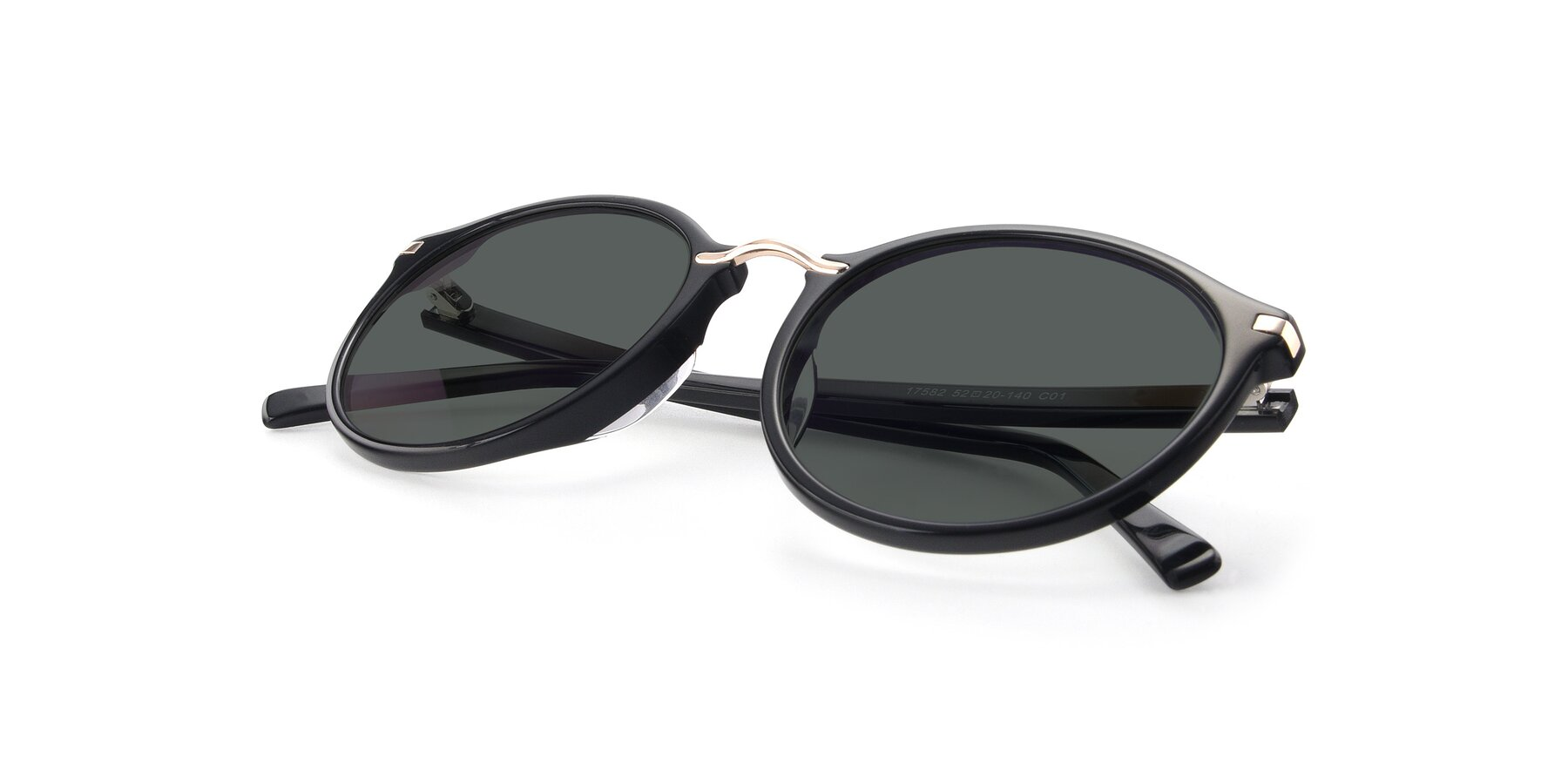 View of 17582 in Black with Gray Polarized Lenses