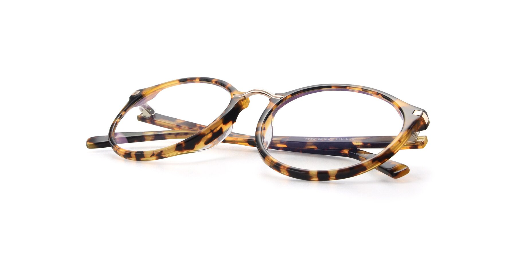 View of 17582 in Tortoise with Clear Eyeglass Lenses