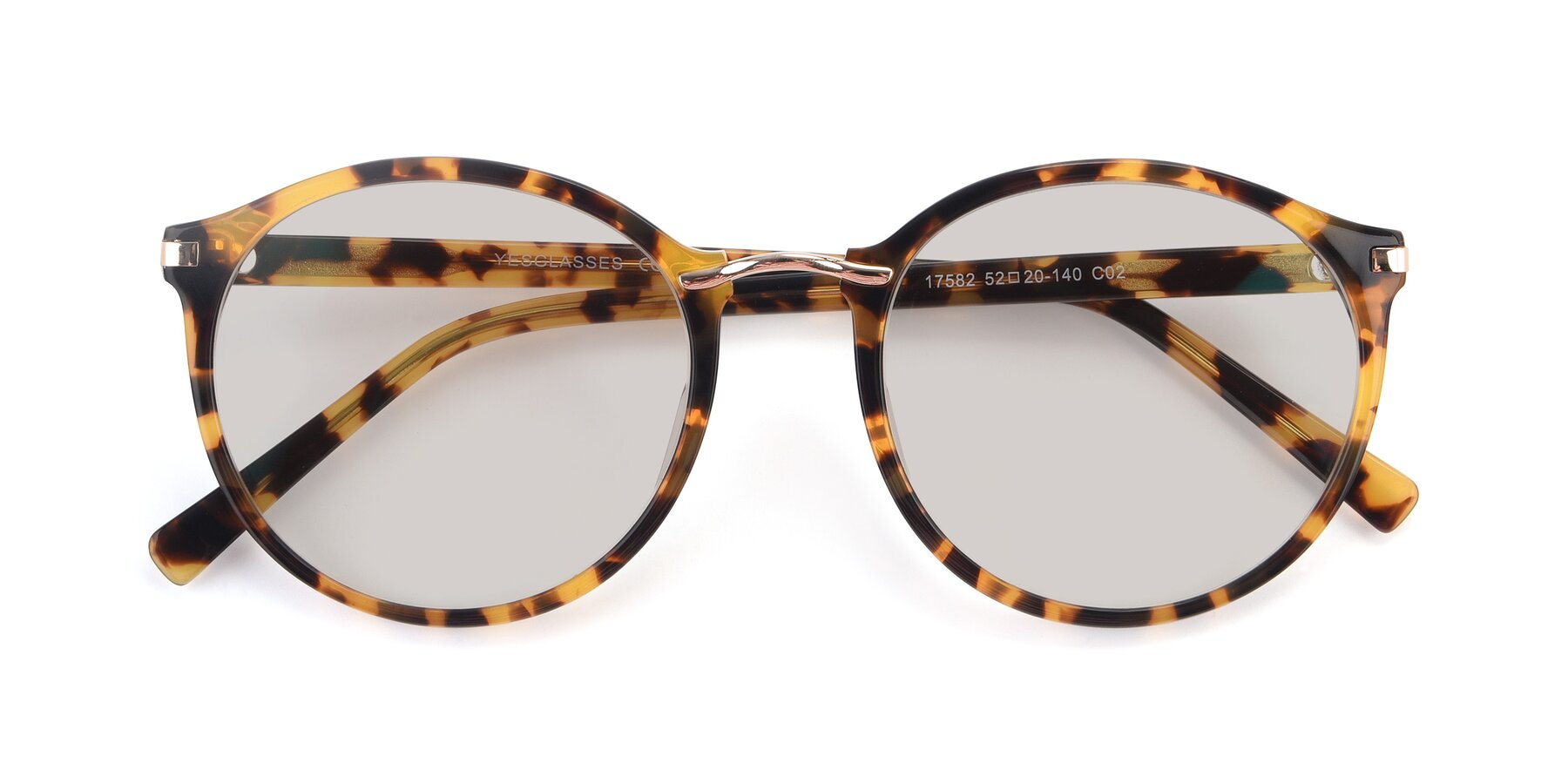 Folded Front of 17582 in Tortoise with Light Brown Tinted Lenses