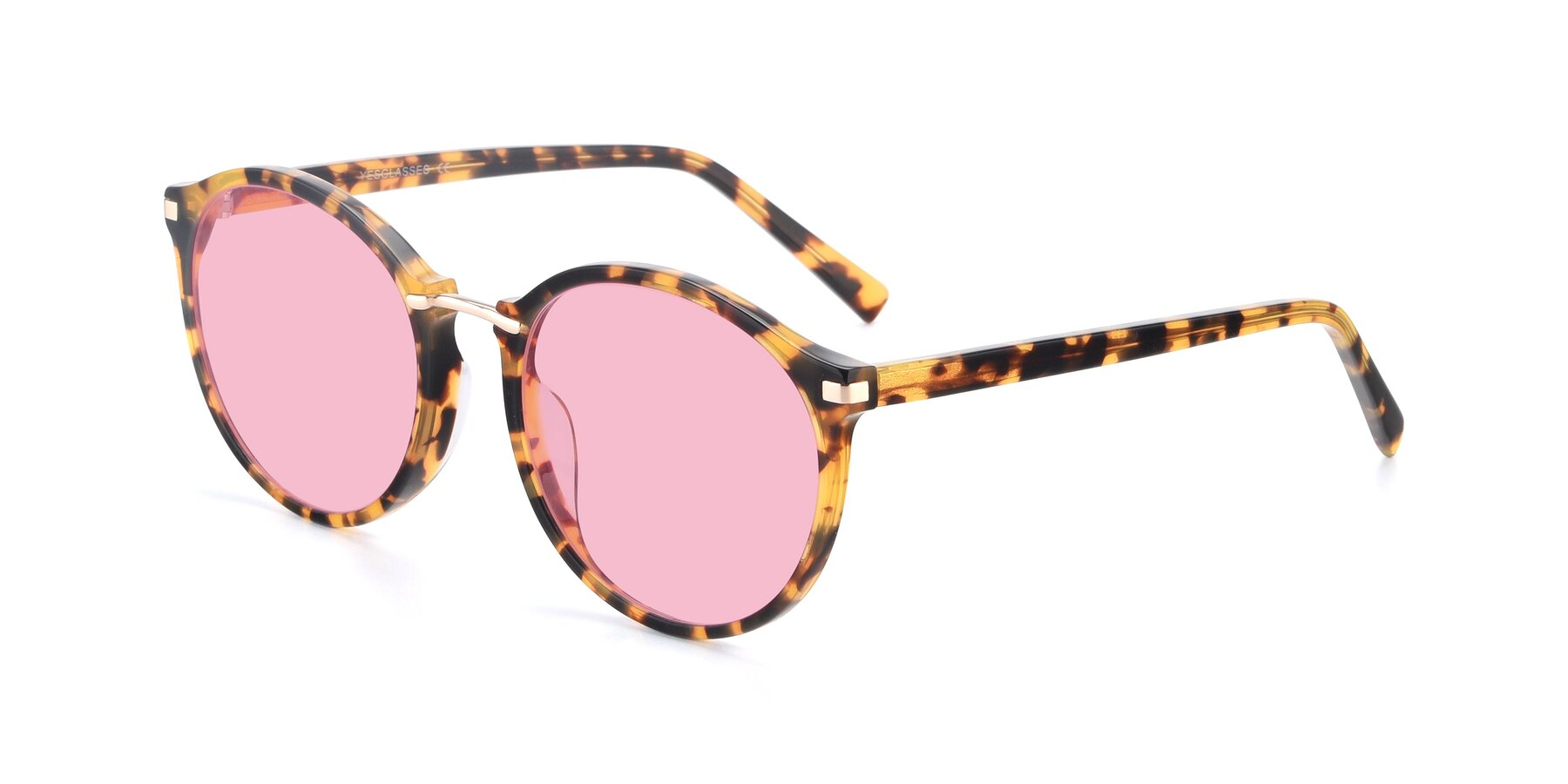 Angle of 17582 in Tortoise with Medium Pink Tinted Lenses