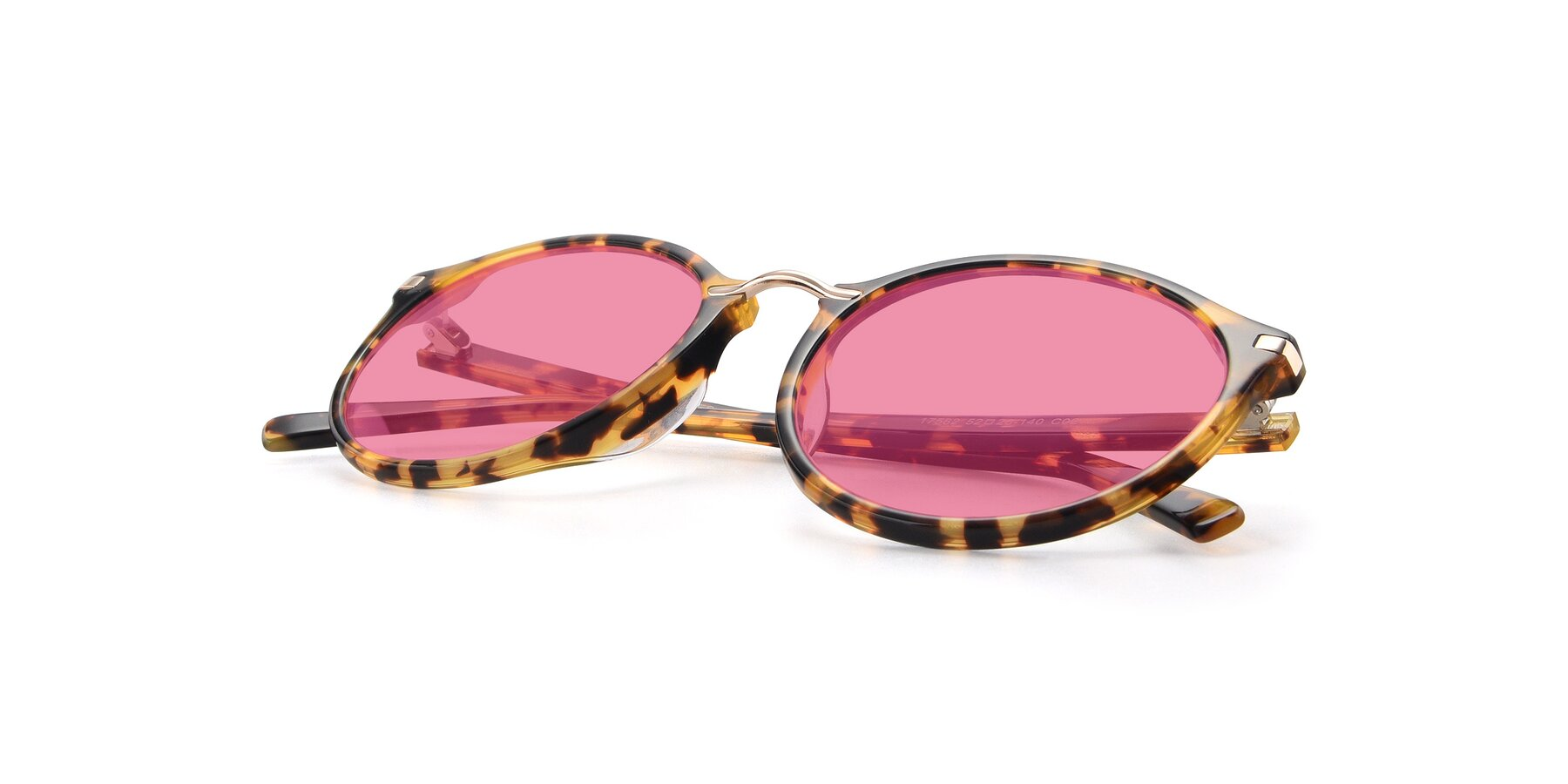 View of 17582 in Tortoise with Pink Tinted Lenses