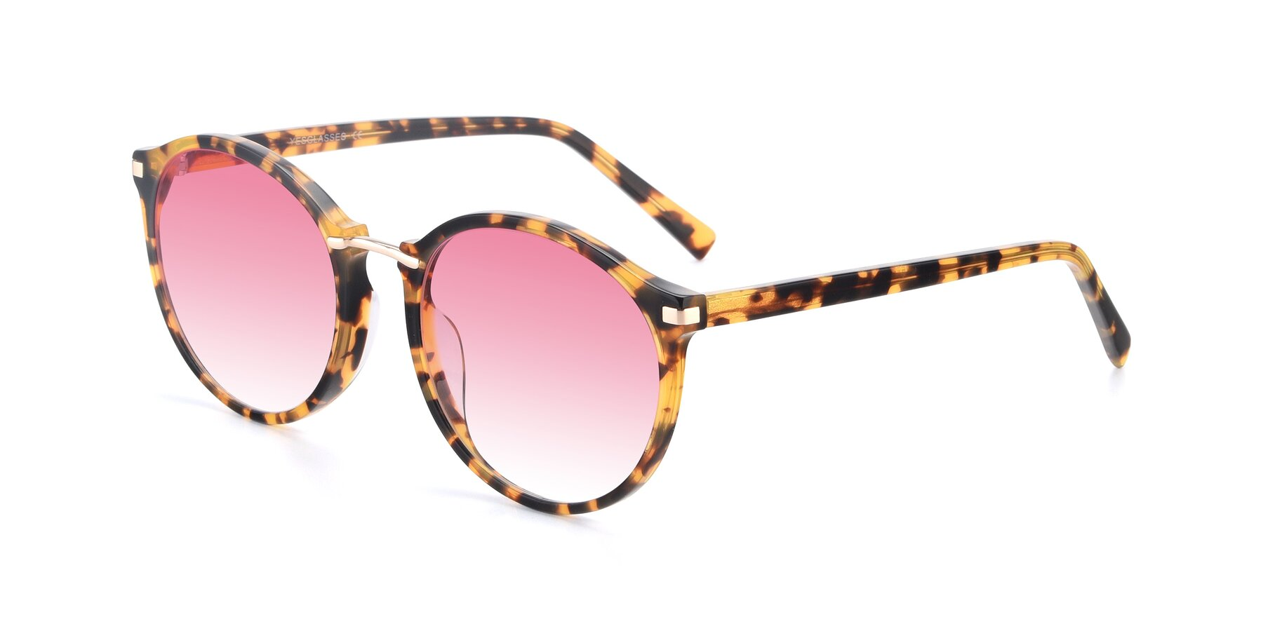Angle of 17582 in Tortoise with Pink Gradient Lenses