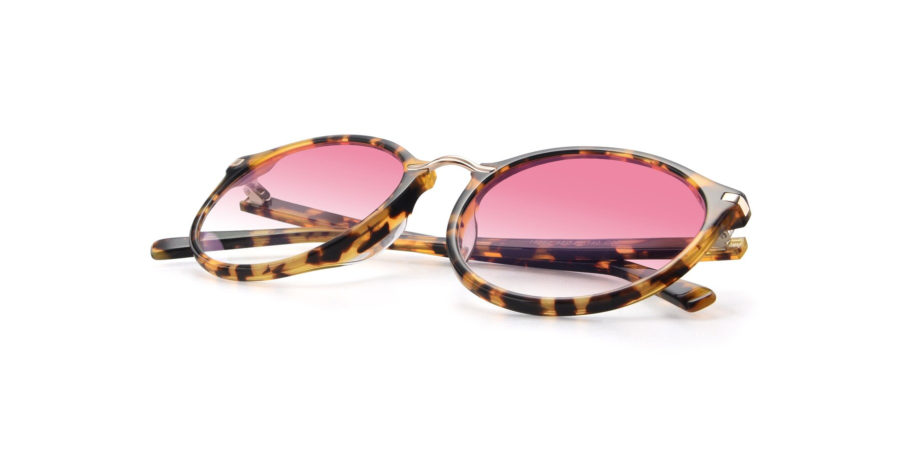 View of 17582 in Tortoise with Pink Gradient Lenses