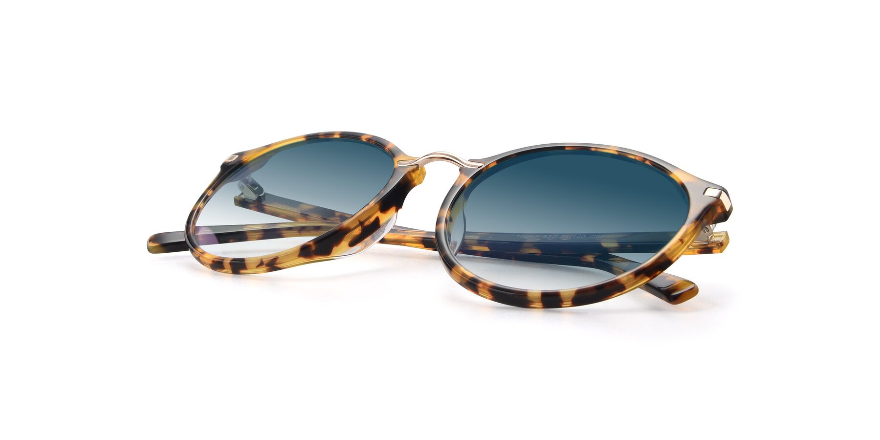 View of 17582 in Tortoise with Blue Gradient Lenses
