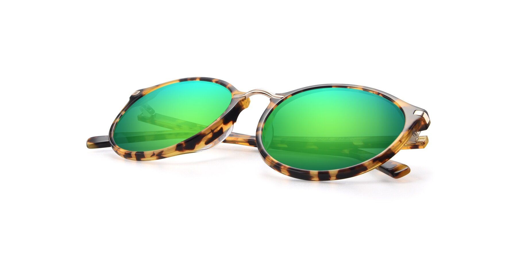 View of 17582 in Tortoise with Green Mirrored Lenses