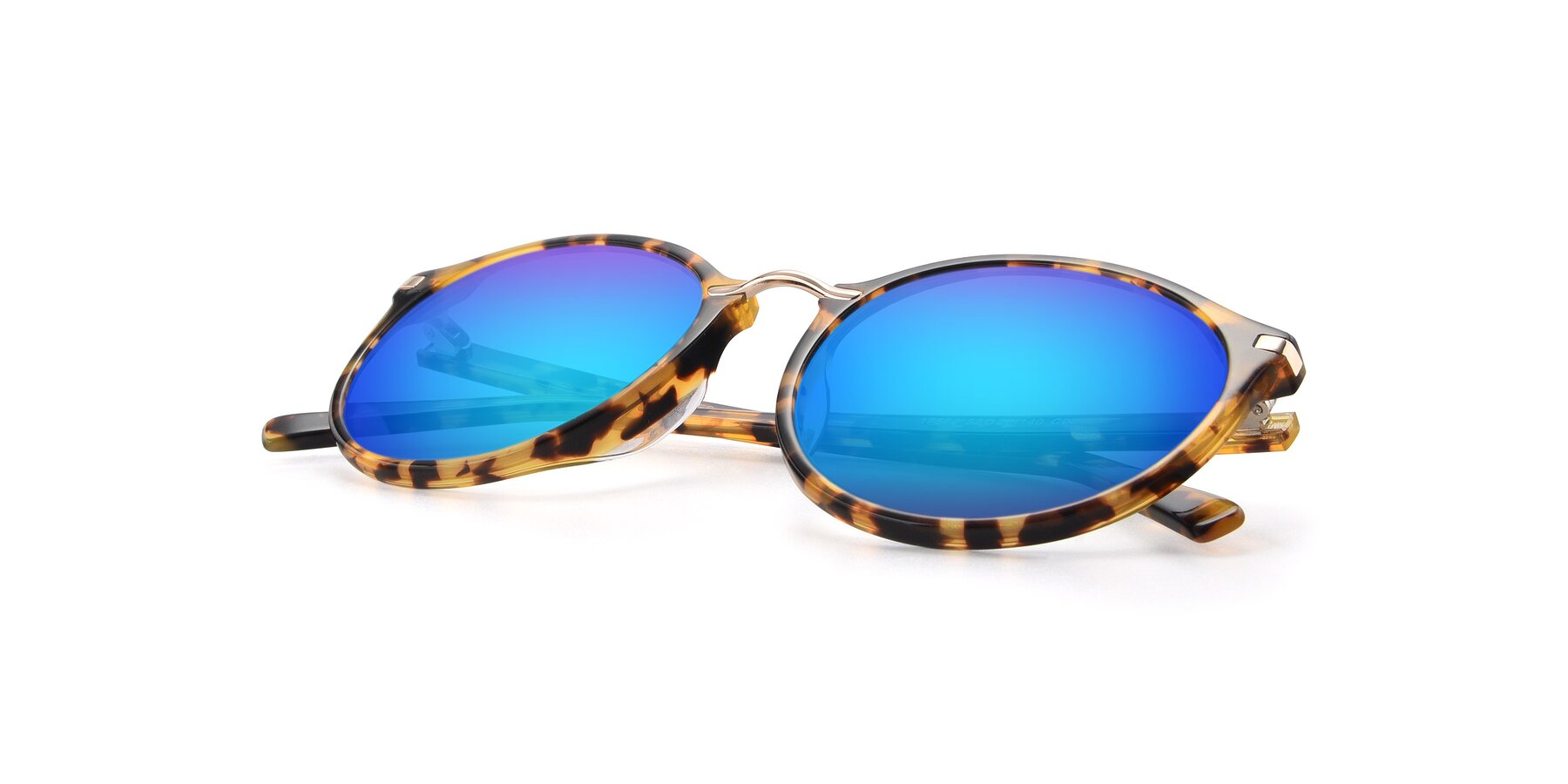 View of 17582 in Tortoise with Blue Mirrored Lenses