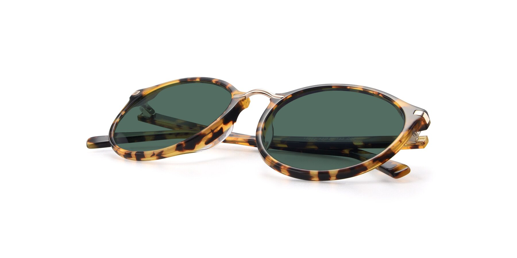 View of 17582 in Tortoise with Green Polarized Lenses