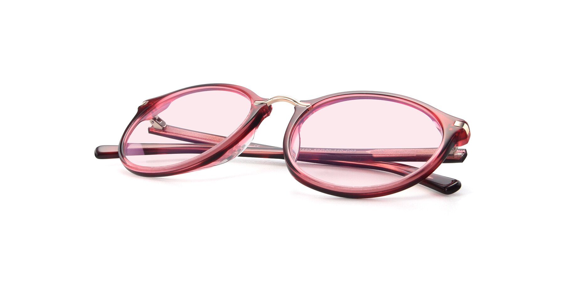 View of 17582 in Wine with Light Pink Tinted Lenses