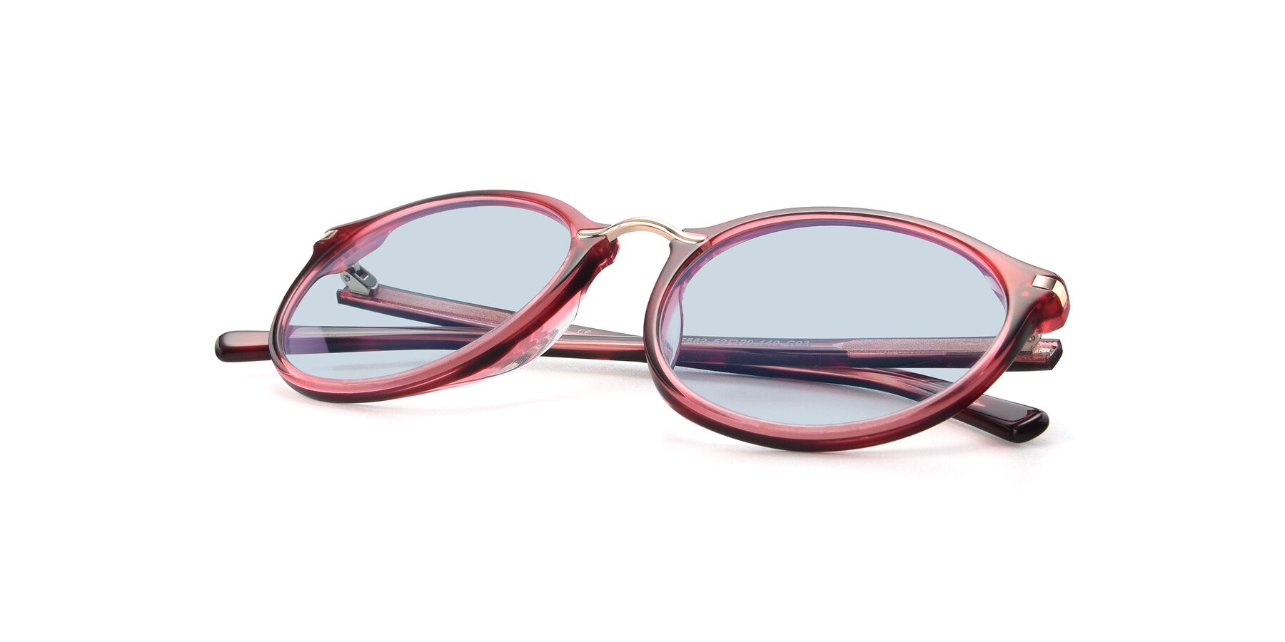 View of 17582 in Wine with Light Blue Tinted Lenses