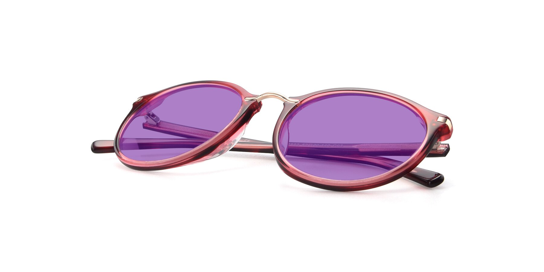 View of 17582 in Wine with Medium Purple Tinted Lenses