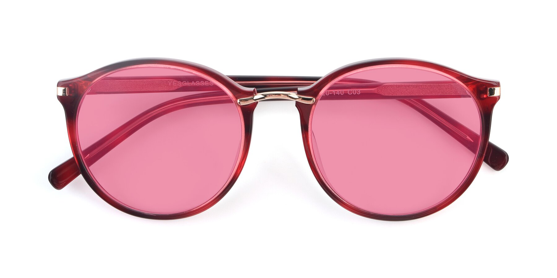 Folded Front of 17582 in Wine with Pink Tinted Lenses
