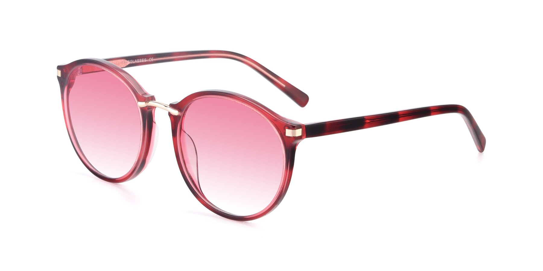 Angle of 17582 in Wine with Pink Gradient Lenses