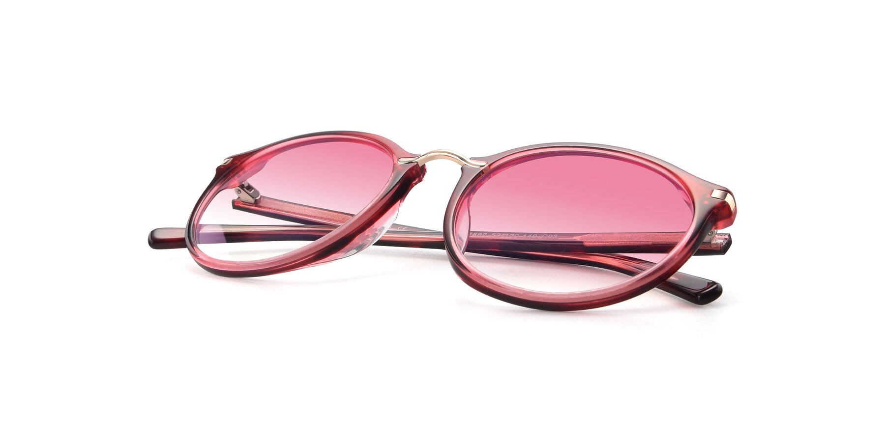 View of 17582 in Wine with Pink Gradient Lenses