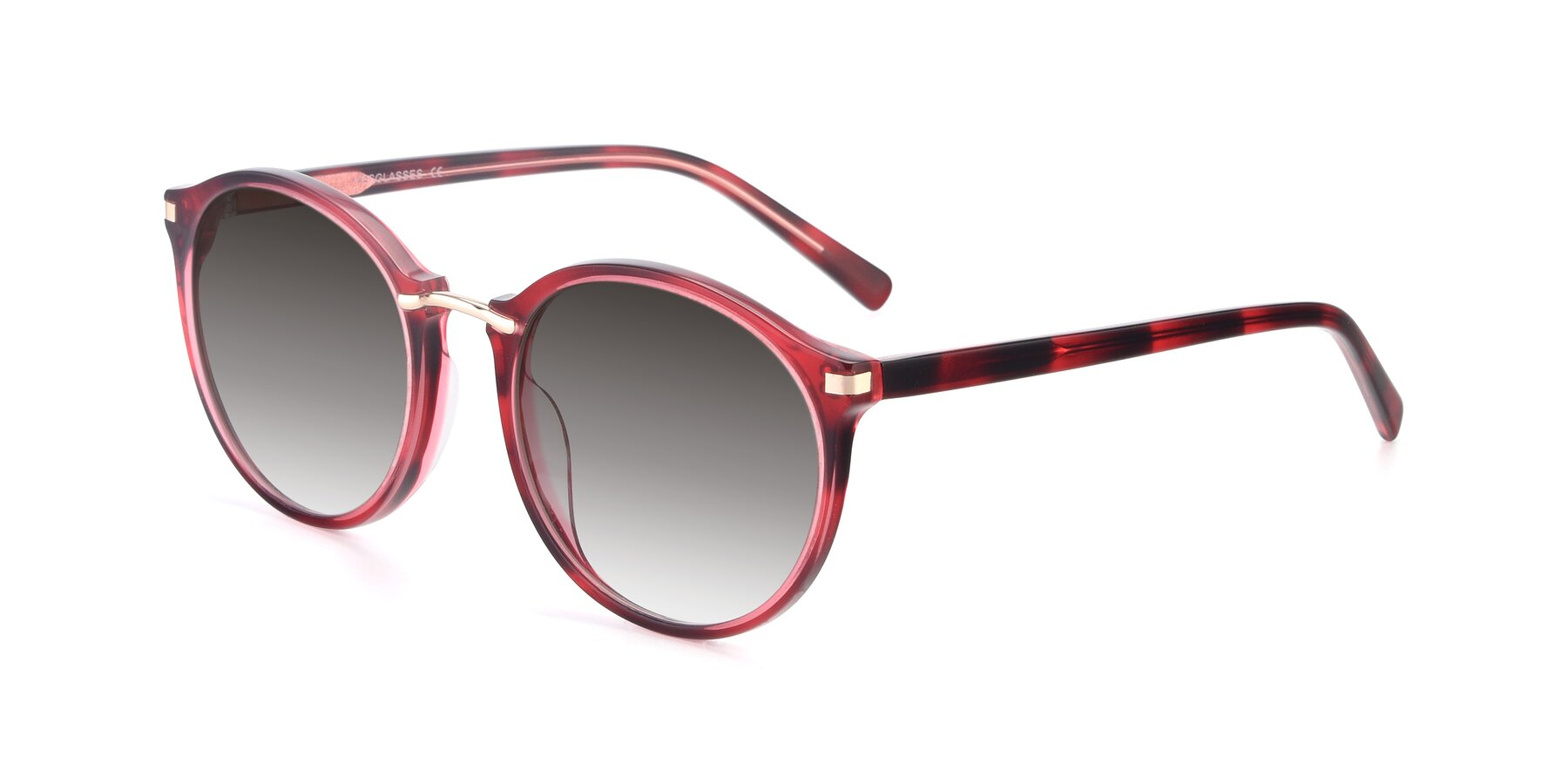 Angle of 17582 in Wine with Gray Gradient Lenses