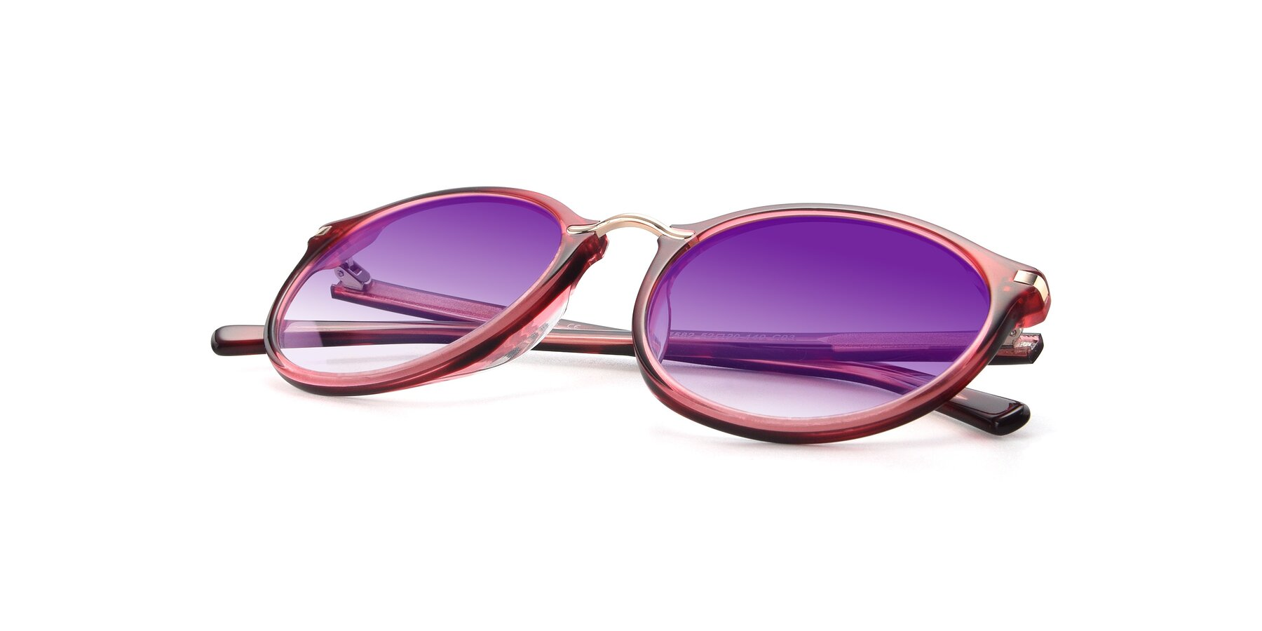 View of 17582 in Wine with Purple Gradient Lenses