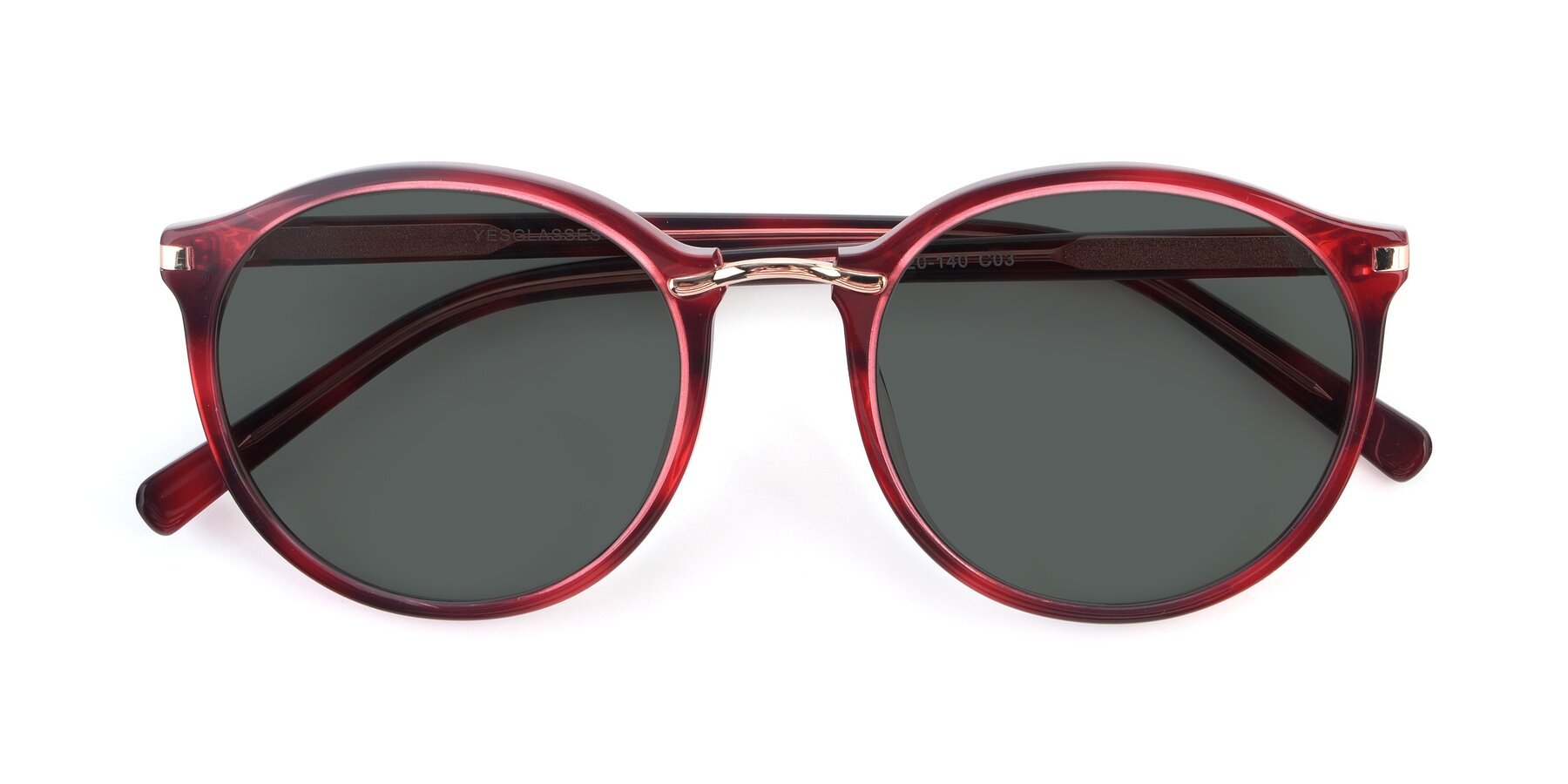 Folded Front of 17582 in Wine with Gray Polarized Lenses