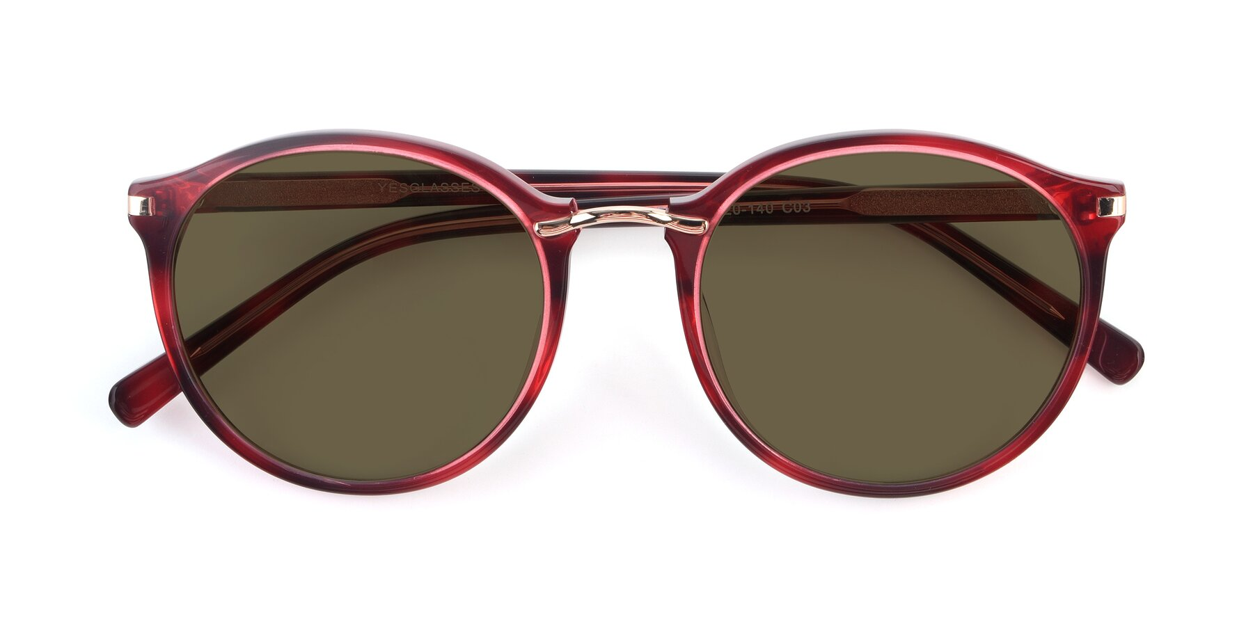 Folded Front of 17582 in Wine with Brown Polarized Lenses