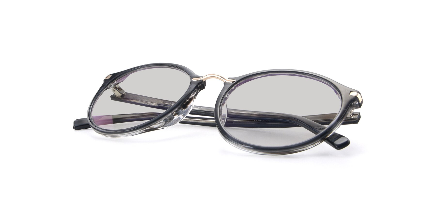 View of 17582 in Translucent Black with Light Gray Tinted Lenses