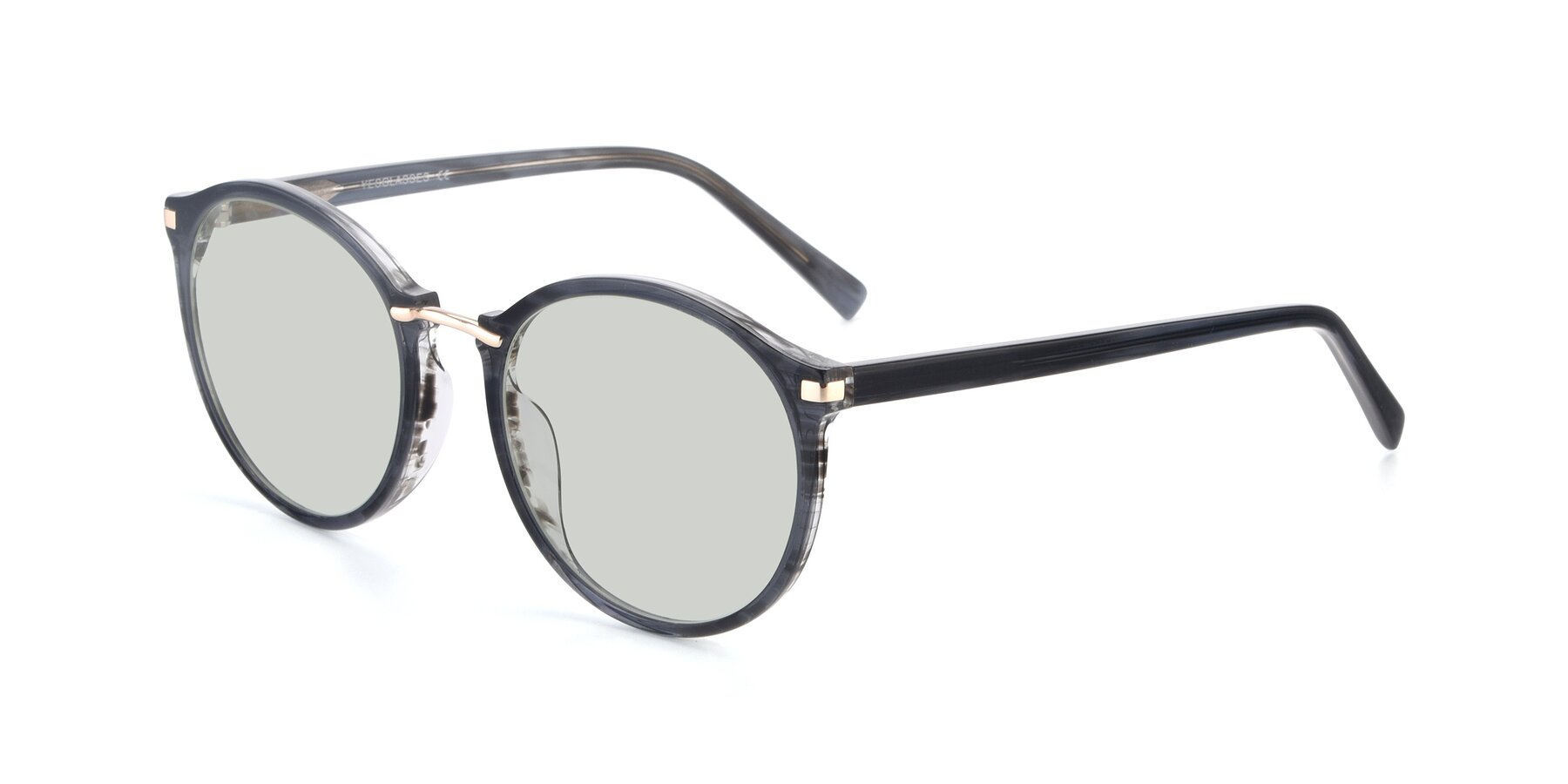 Angle of 17582 in Translucent Black with Light Green Tinted Lenses
