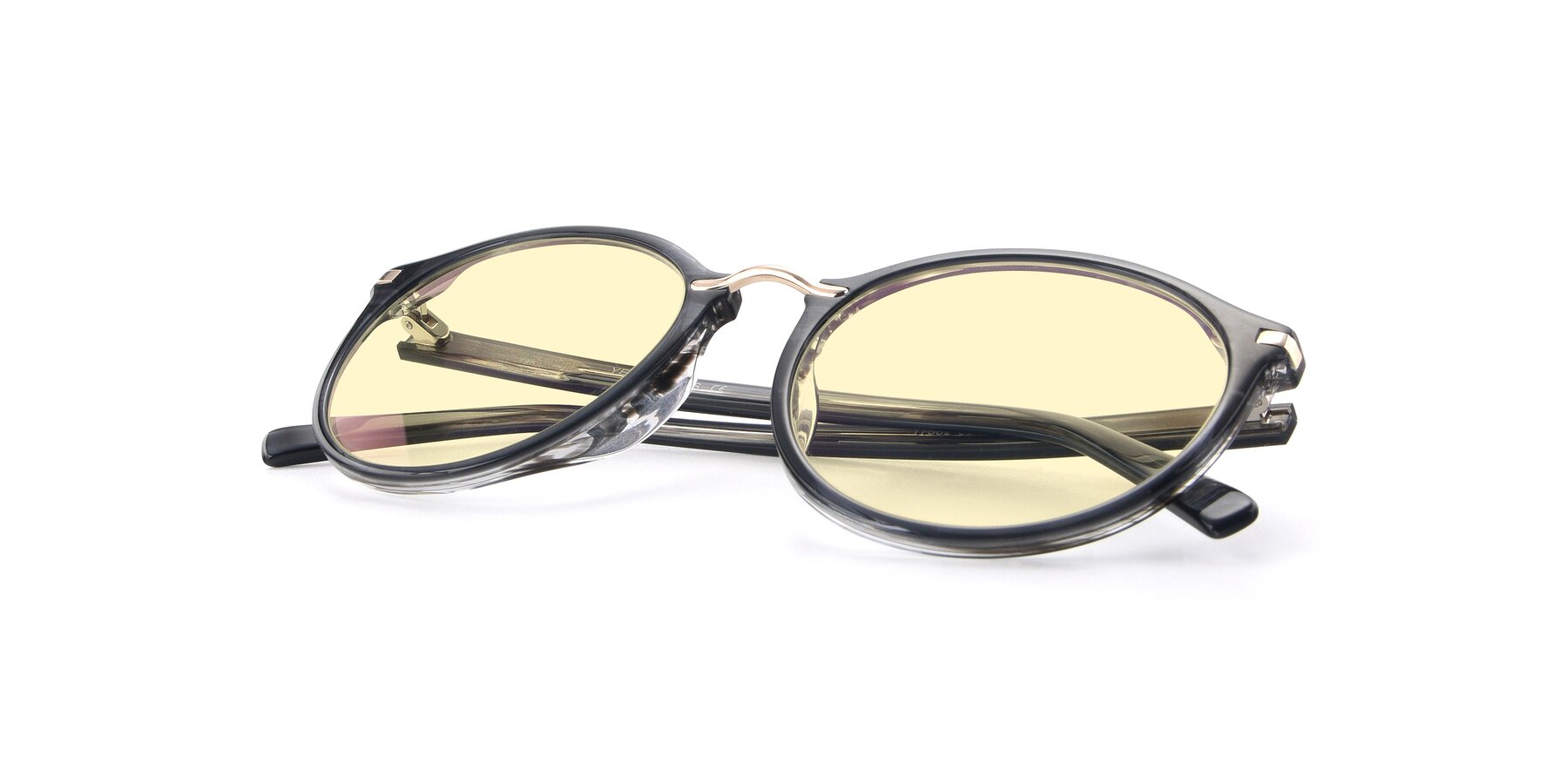 View of 17582 in Translucent Black with Light Yellow Tinted Lenses