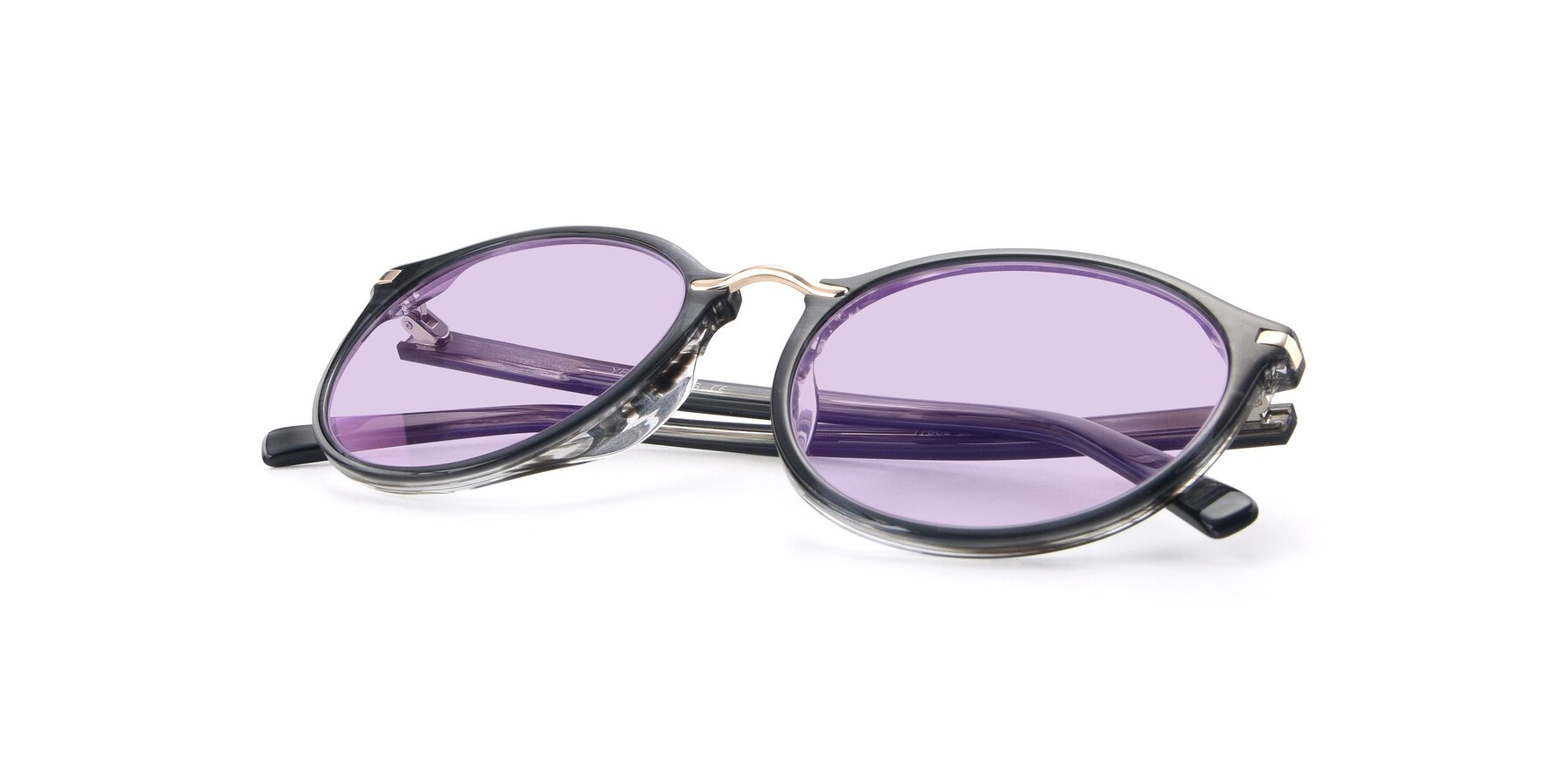 View of 17582 in Translucent Black with Light Purple Tinted Lenses