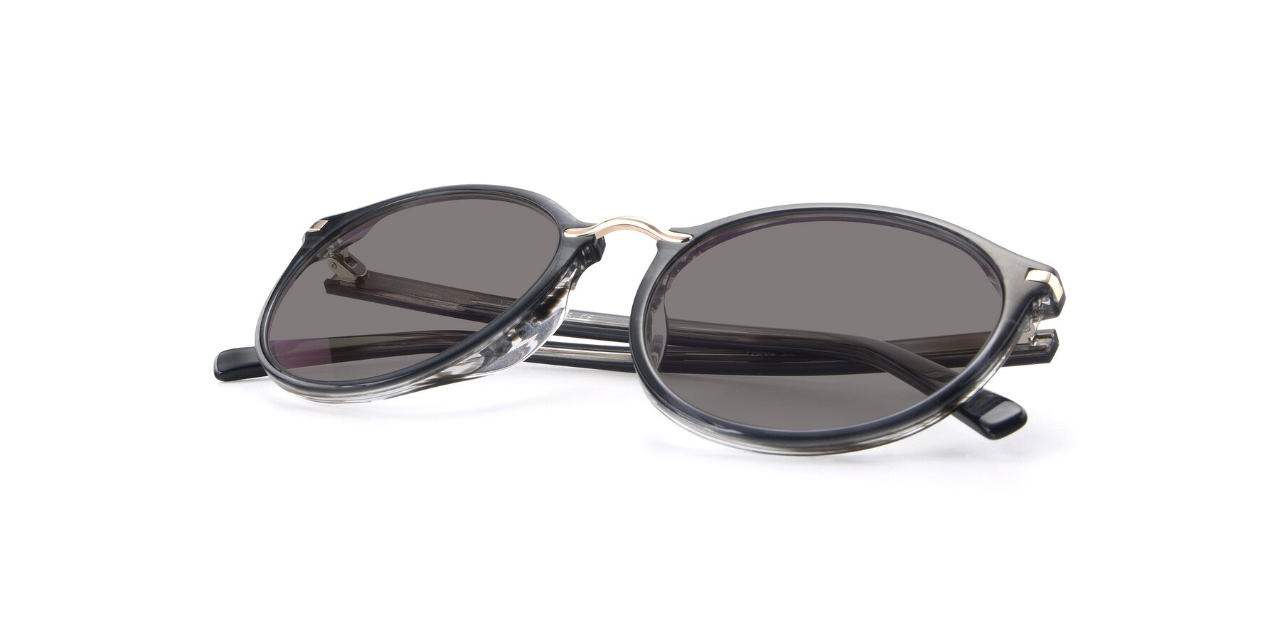 View of 17582 in Translucent Black with Medium Gray Tinted Lenses