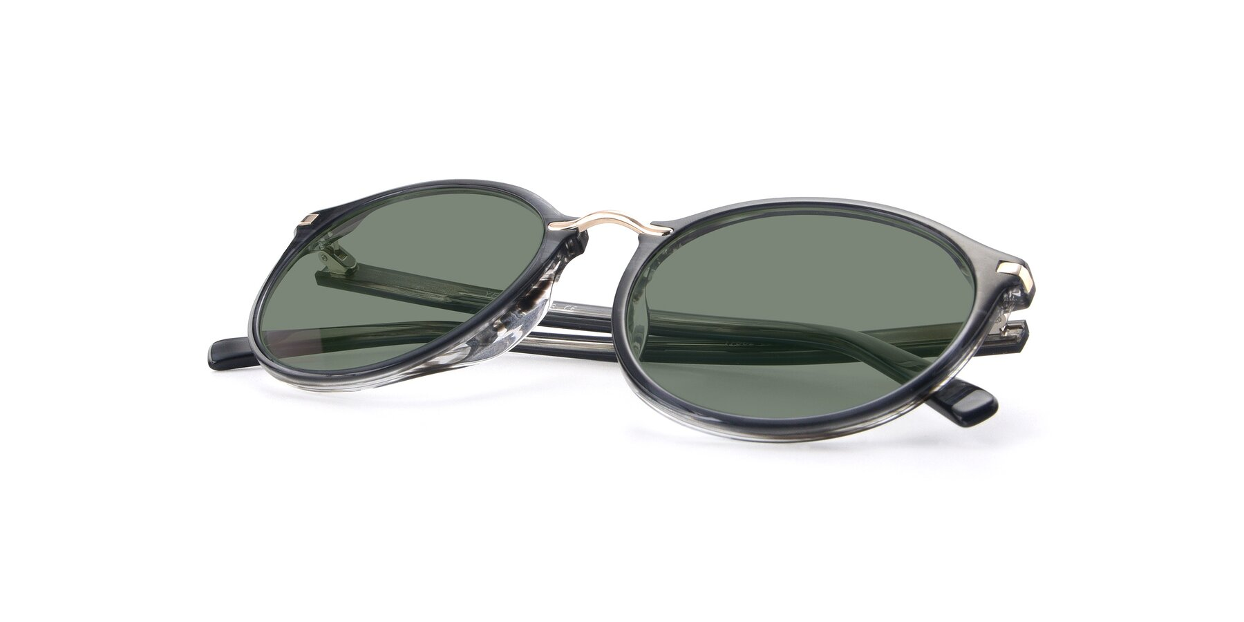 View of 17582 in Translucent Black with Medium Green Tinted Lenses