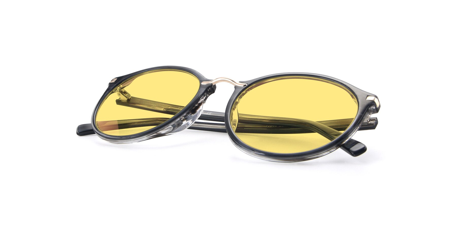 View of 17582 in Translucent Black with Medium Yellow Tinted Lenses