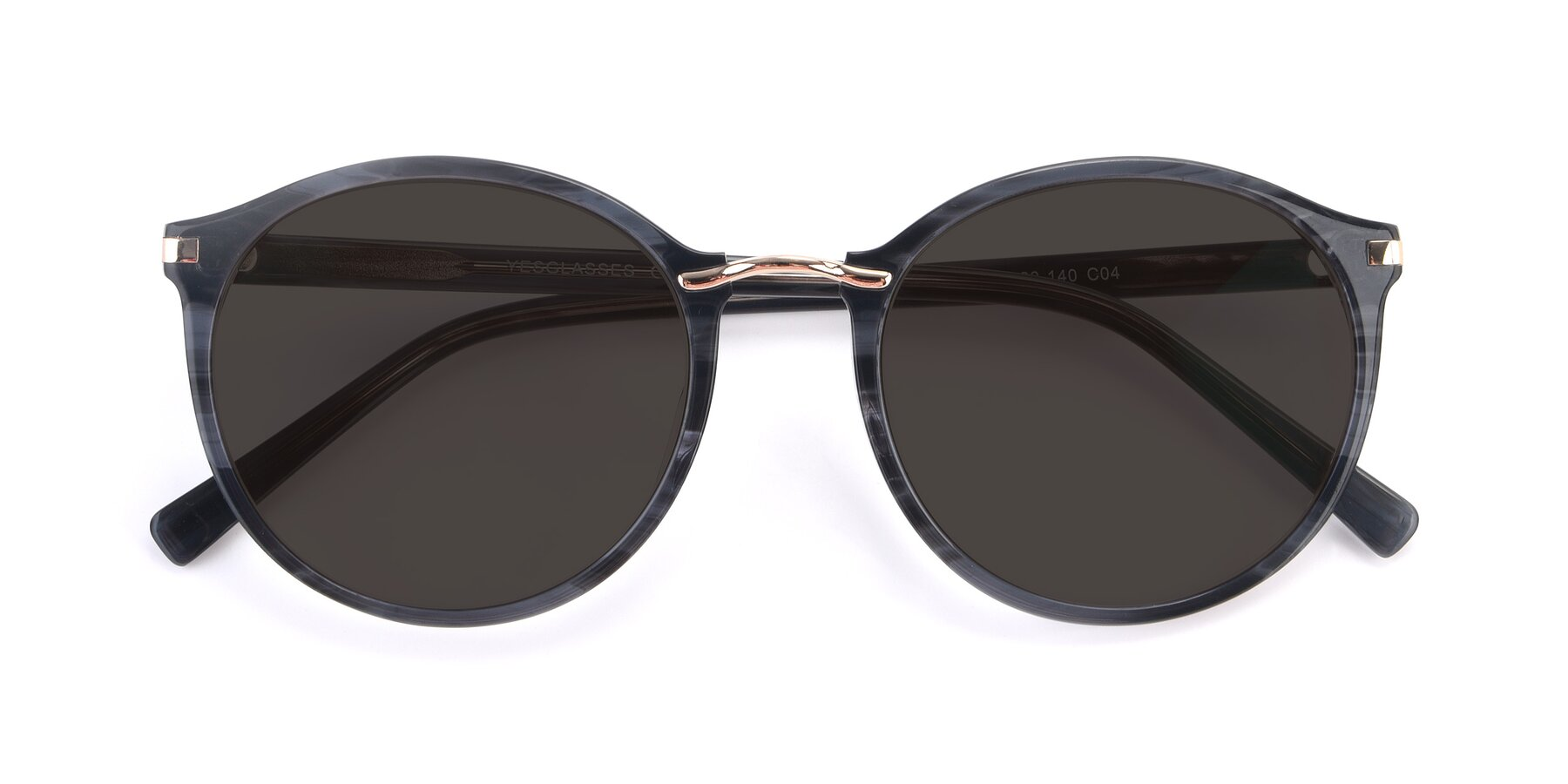Folded Front of 17582 in Translucent Black with Gray Tinted Lenses