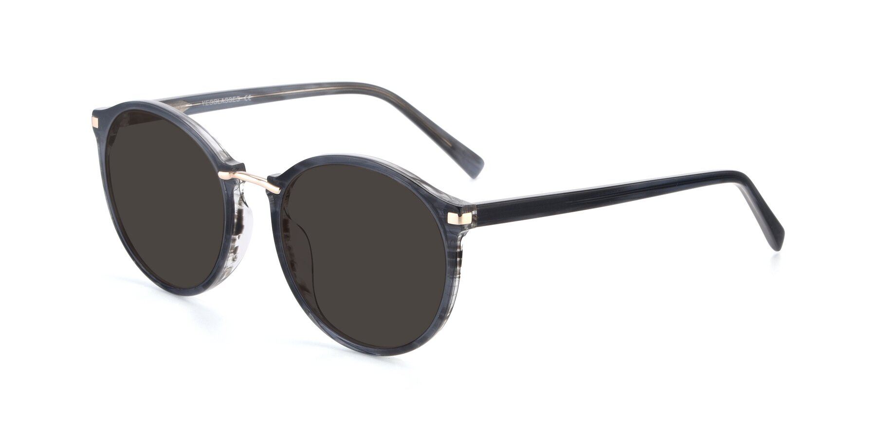 Angle of 17582 in Translucent Black with Gray Tinted Lenses