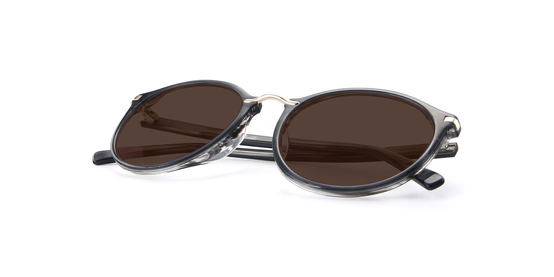 View of 17582 in Translucent Black with Brown Tinted Lenses