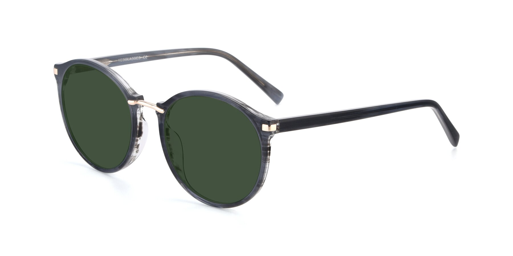 Angle of 17582 in Translucent Black with Green Tinted Lenses