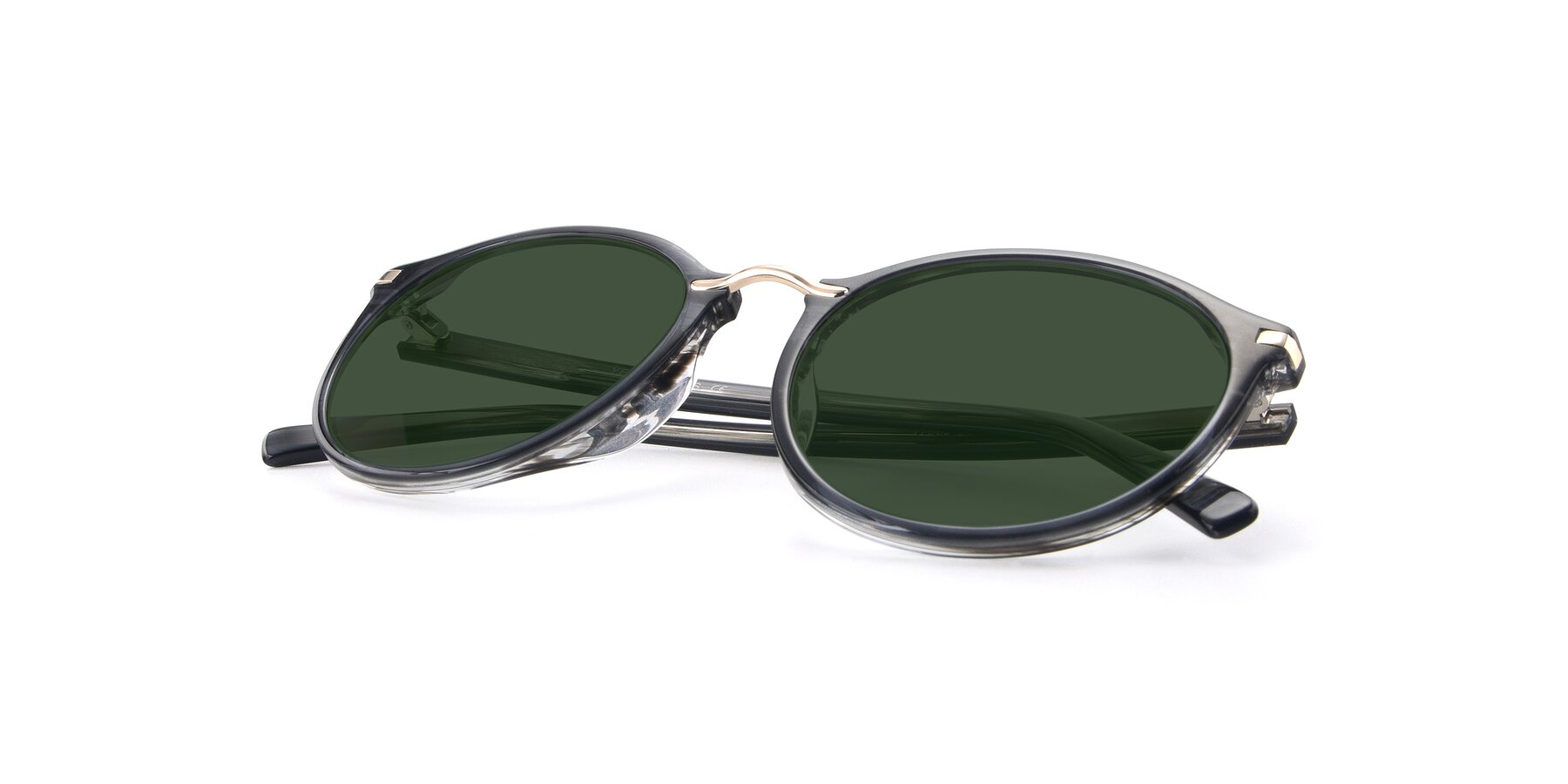 View of 17582 in Translucent Black with Green Tinted Lenses