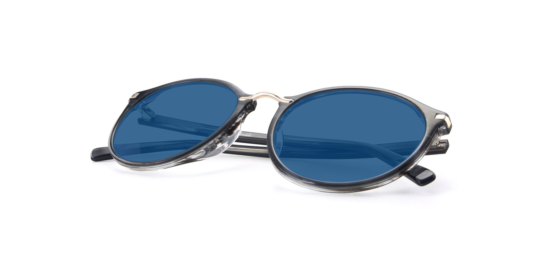 View of 17582 in Translucent Black with Blue Tinted Lenses