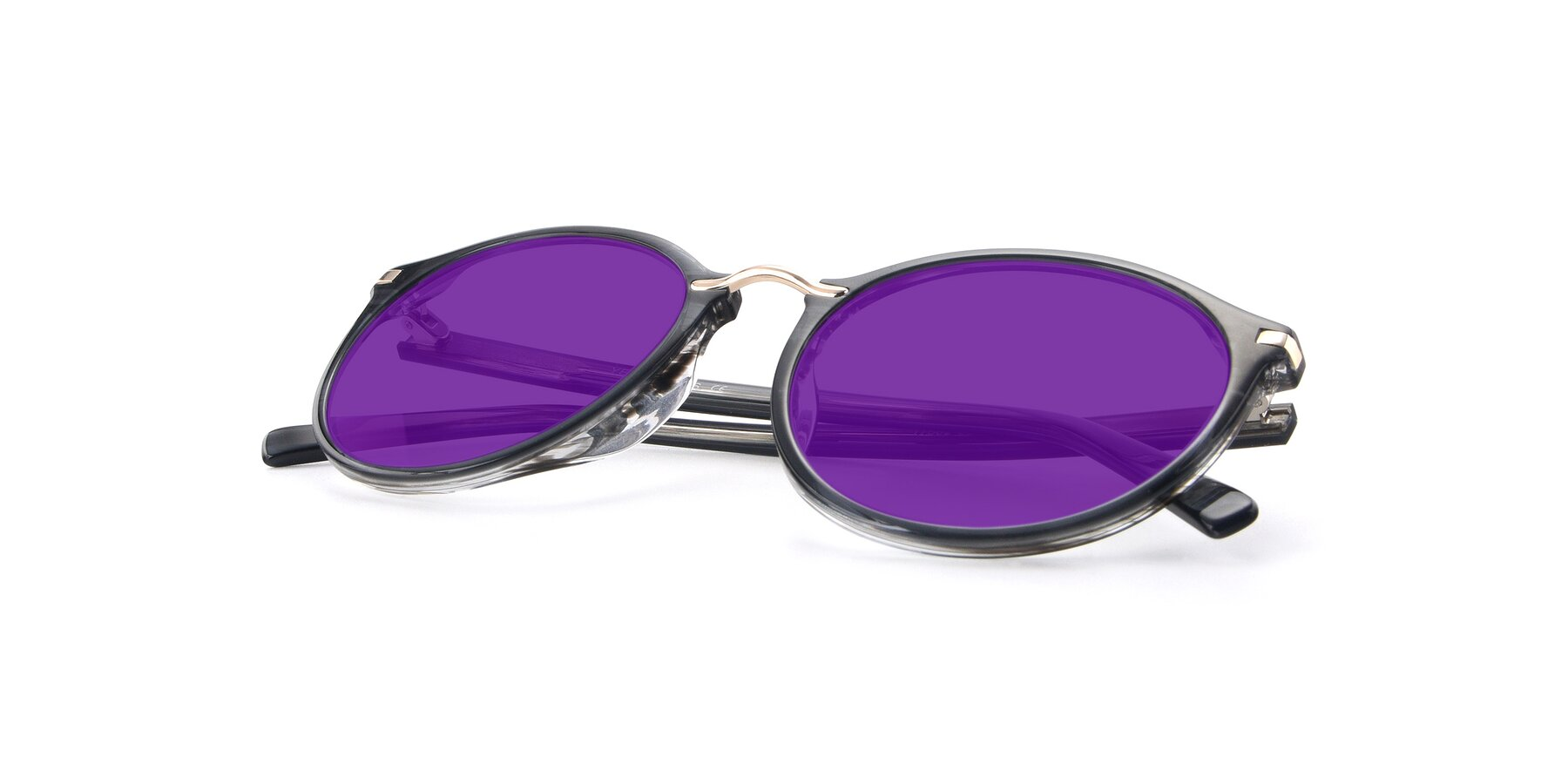 View of 17582 in Translucent Black with Purple Tinted Lenses