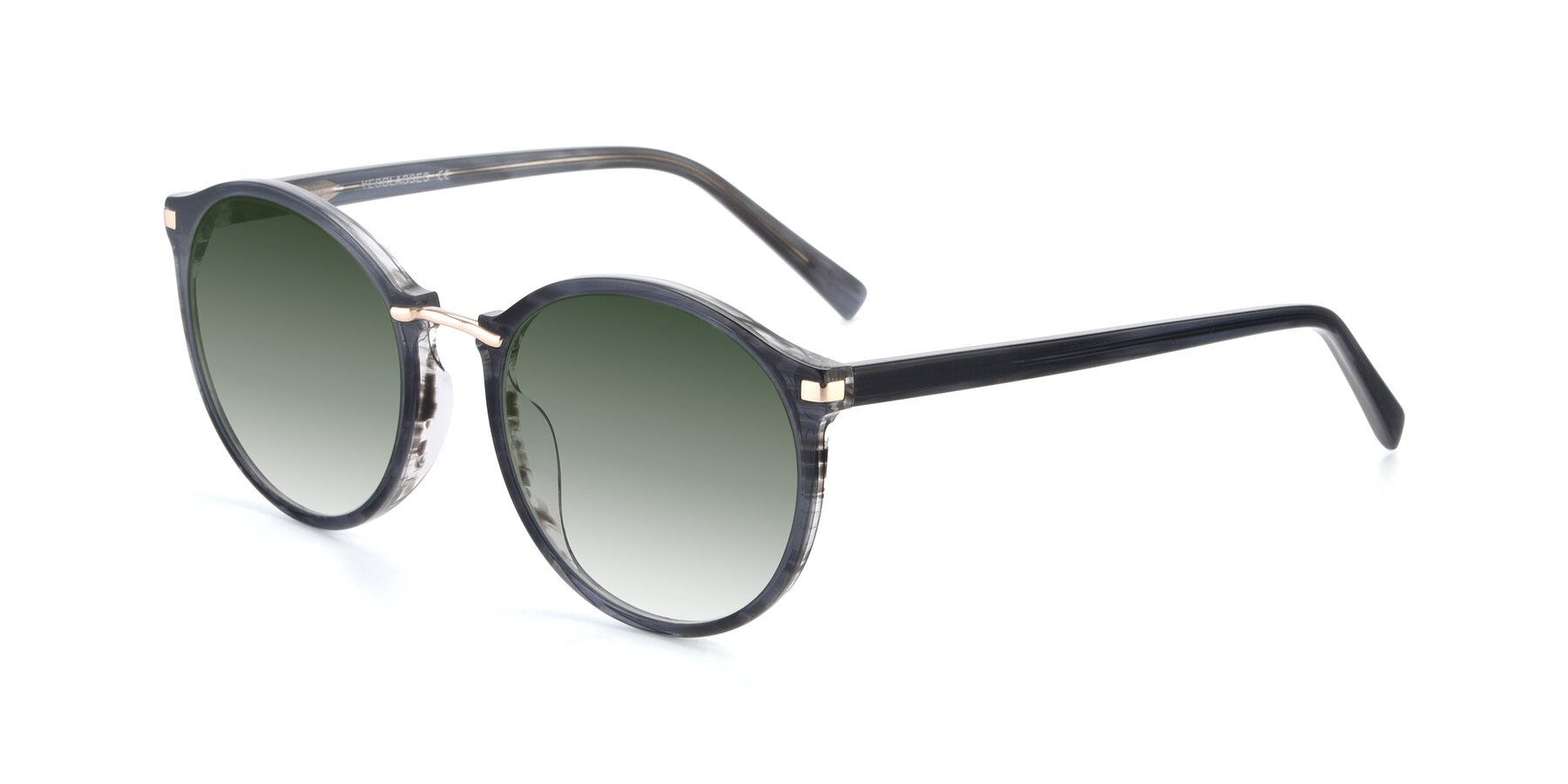 Angle of 17582 in Translucent Black with Green Gradient Lenses