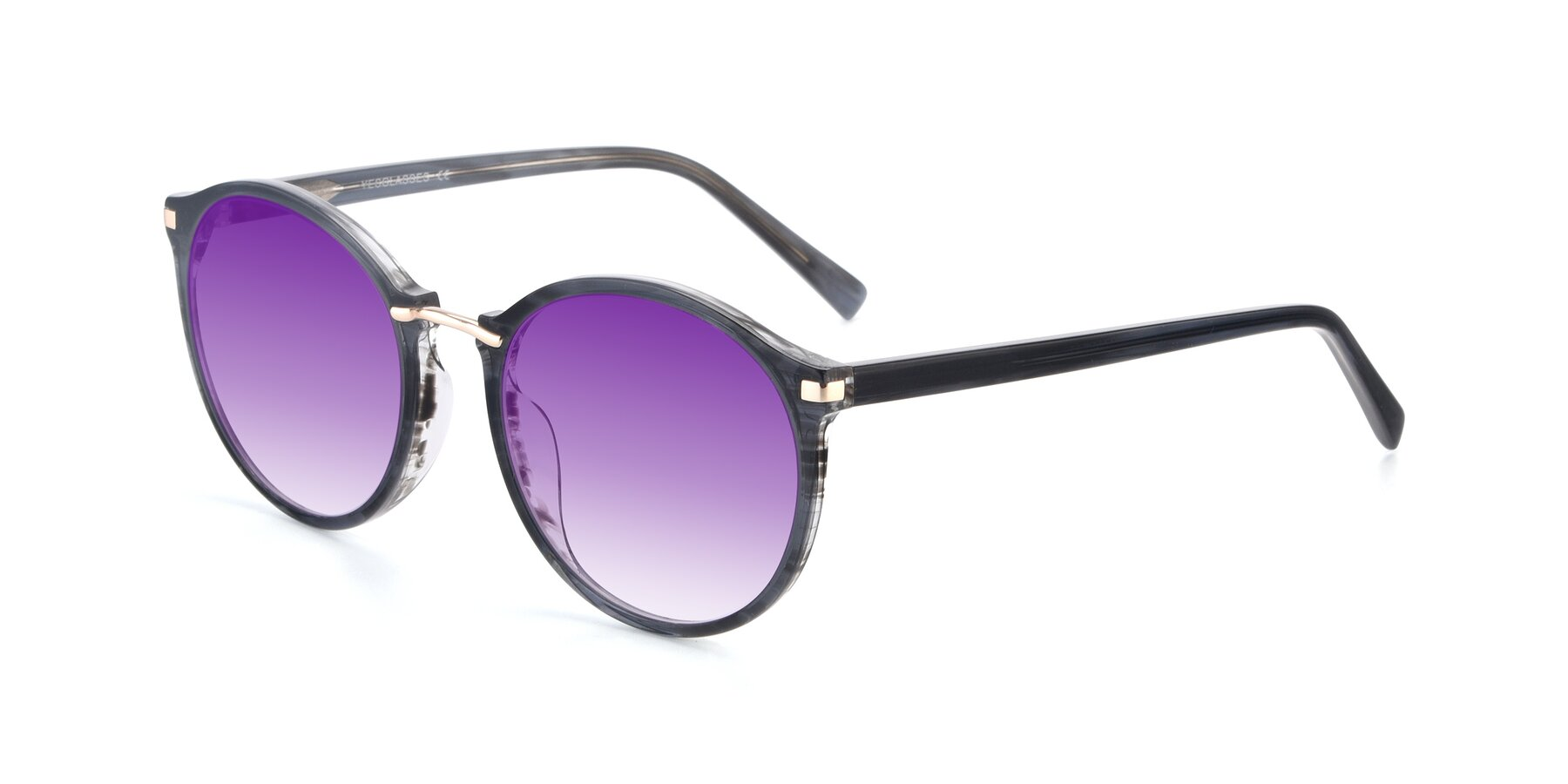 Angle of 17582 in Translucent Black with Purple Gradient Lenses
