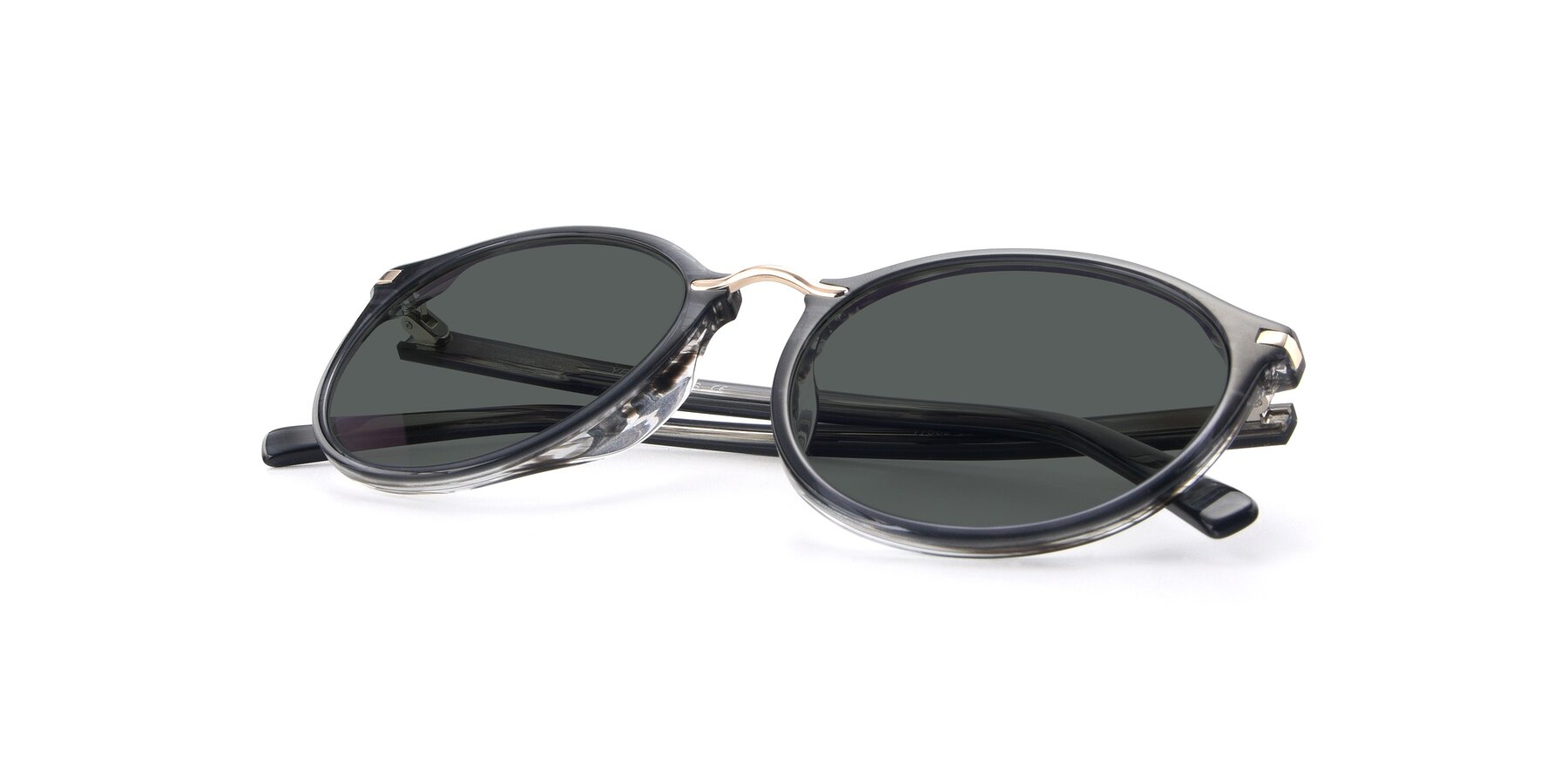 View of 17582 in Translucent Black with Gray Polarized Lenses