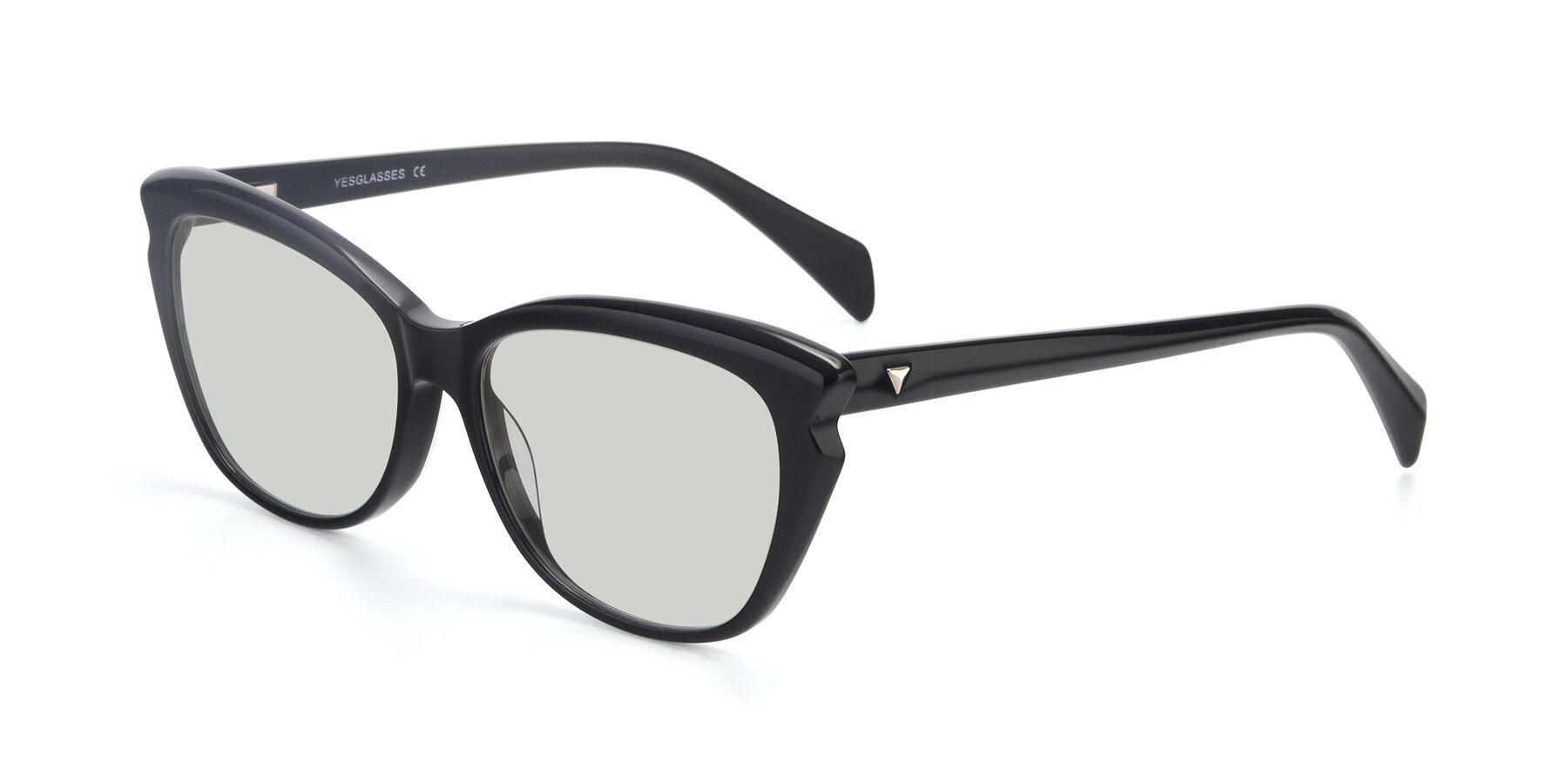 Angle of 17629 in Black with Light Green Tinted Lenses