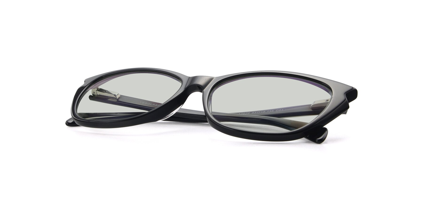 View of 17629 in Black with Light Green Tinted Lenses